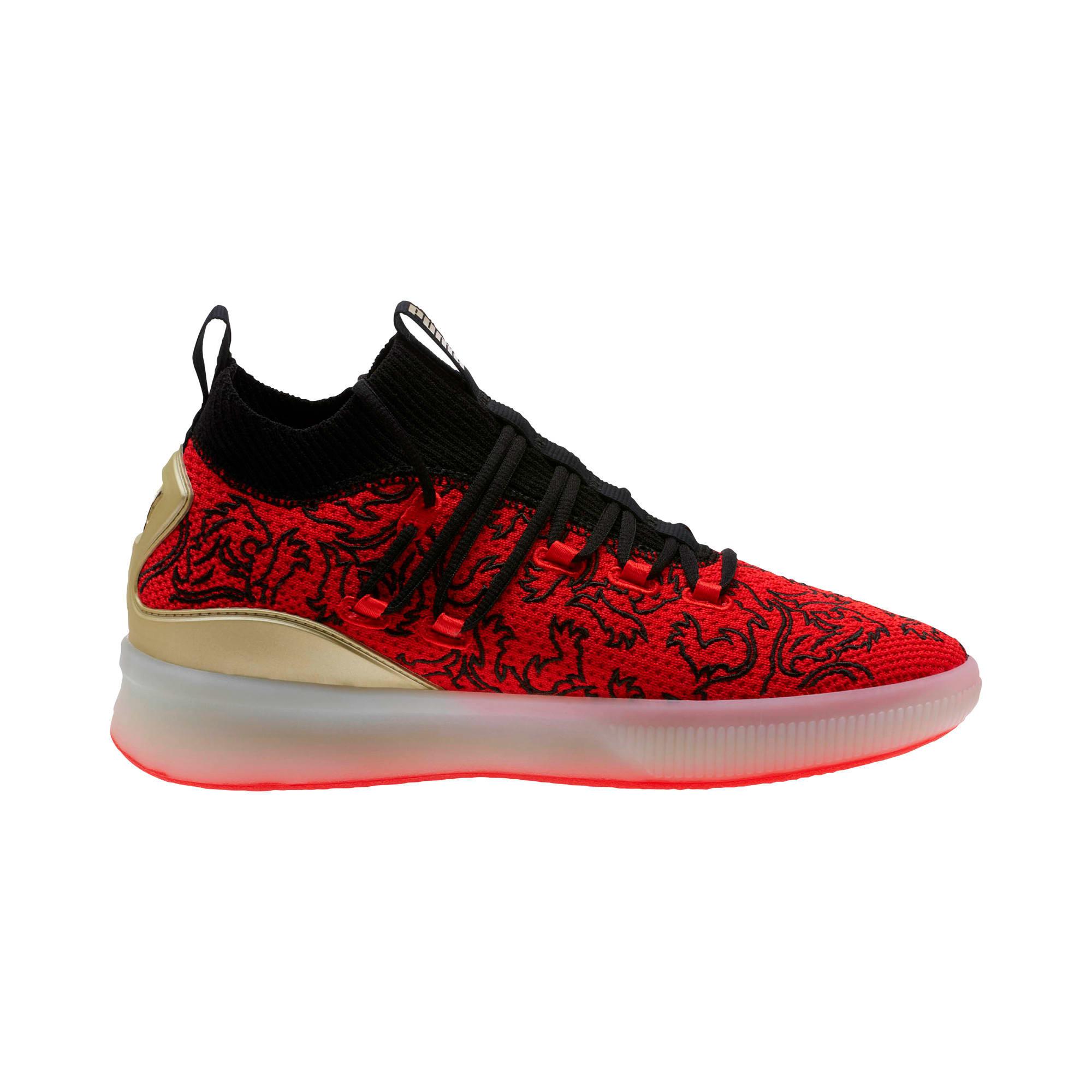 Imagen en miniatura 4 de Zapatillas de baloncesto de hombre Clyde Court London, High Risk Red-Puma Black, mediana