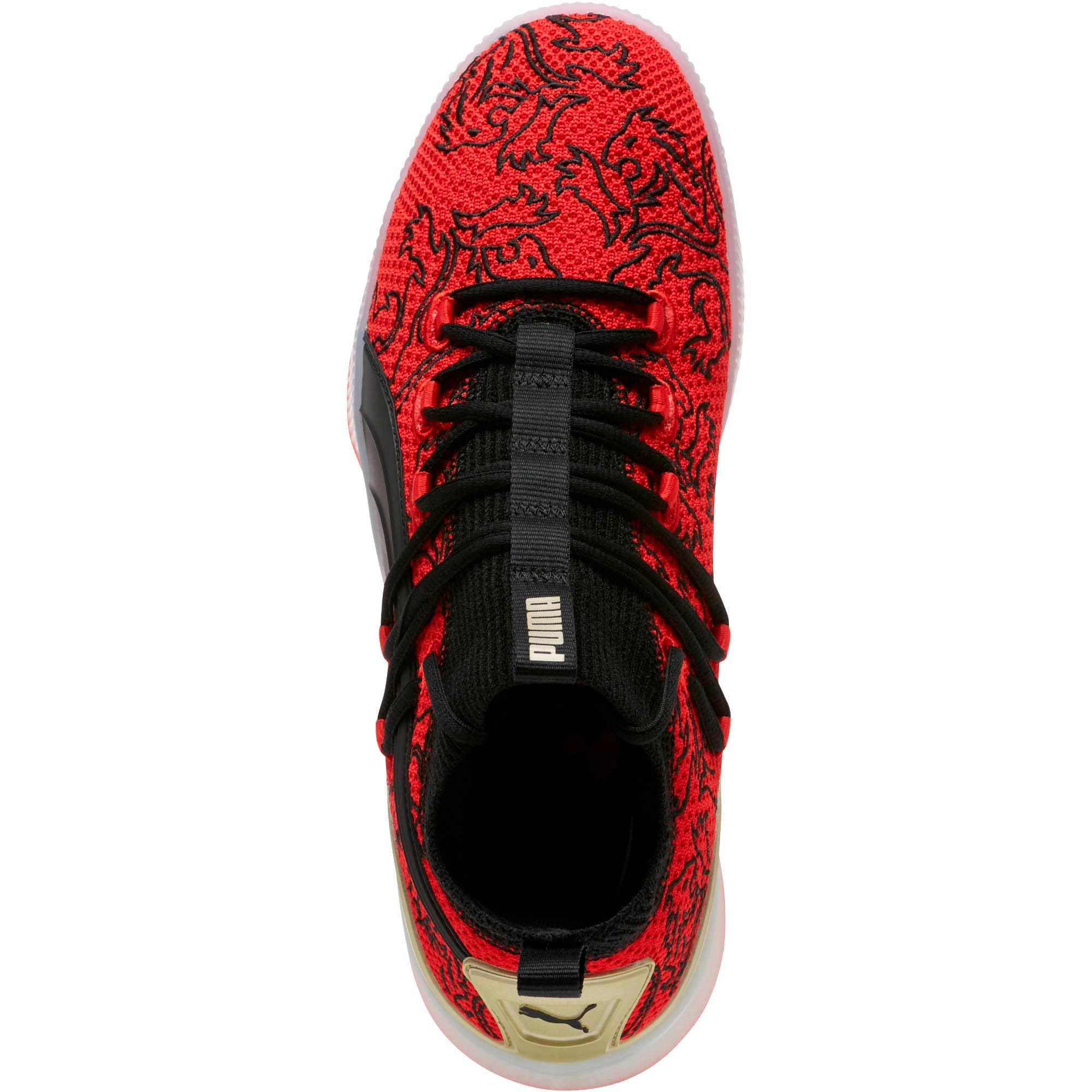 Thumbnail 5 of Clyde Court London Men's Basketball Shoes, High Risk Red-Puma Black, medium