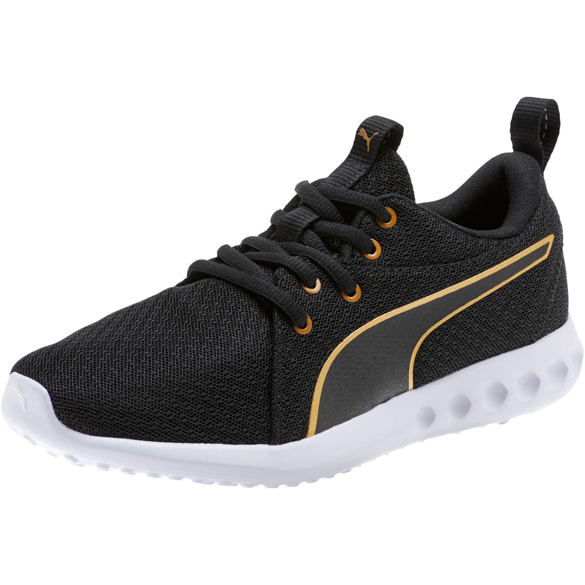 Thumbnail 1 of Carson 2 Metallic Mesh Shoes JR, Puma Black-Gold, medium