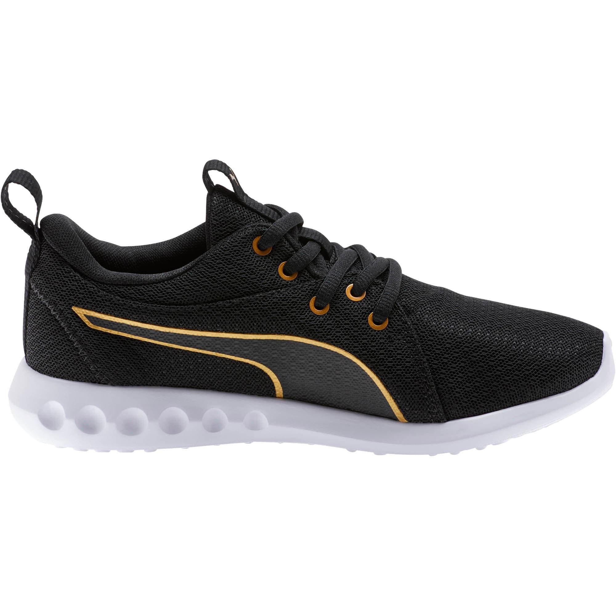 Thumbnail 4 of Carson 2 Metallic Mesh Shoes JR, Puma Black-Gold, medium