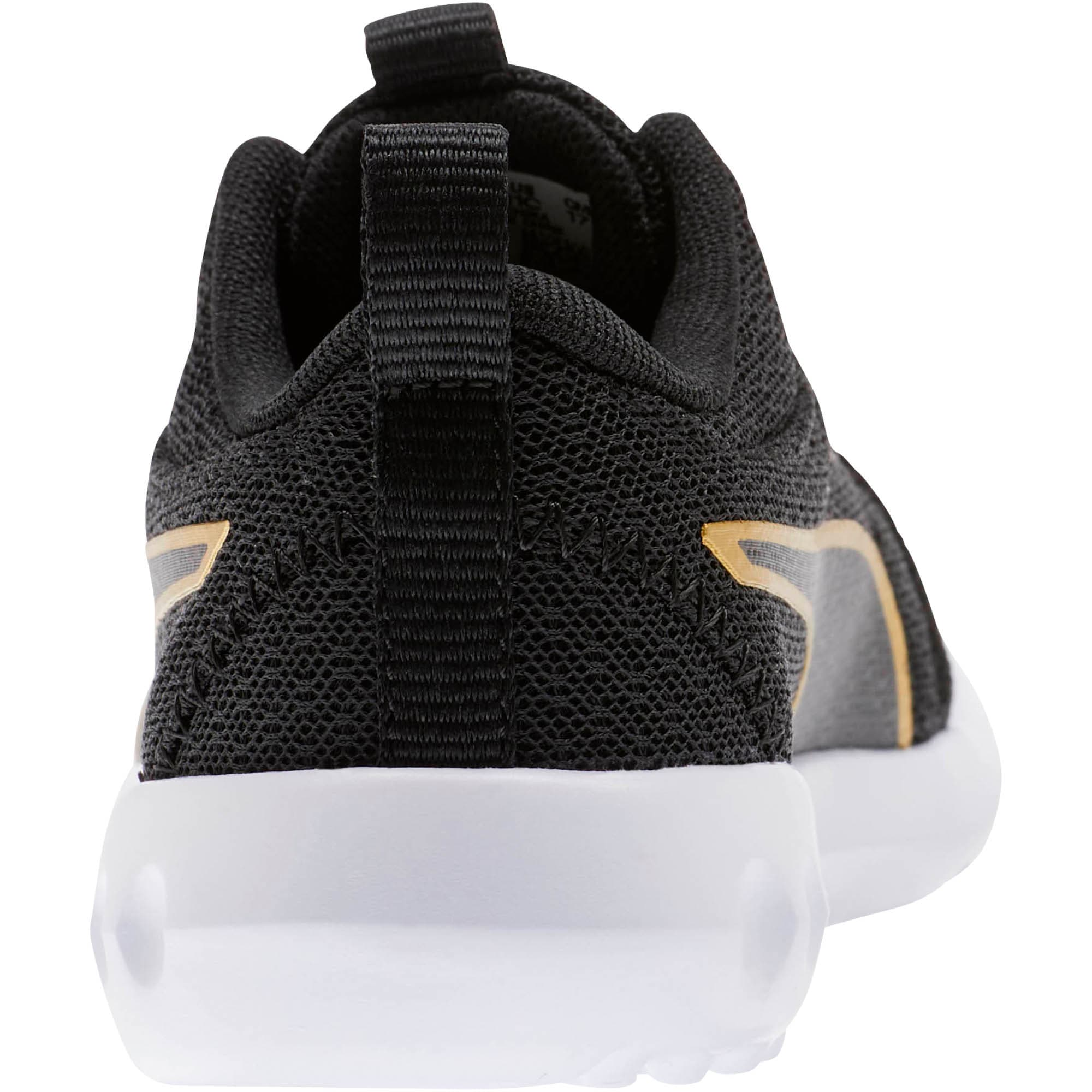 Thumbnail 3 of Carson 2 Metallic Mesh Little Kids' Shoes, Puma Black-Gold, medium