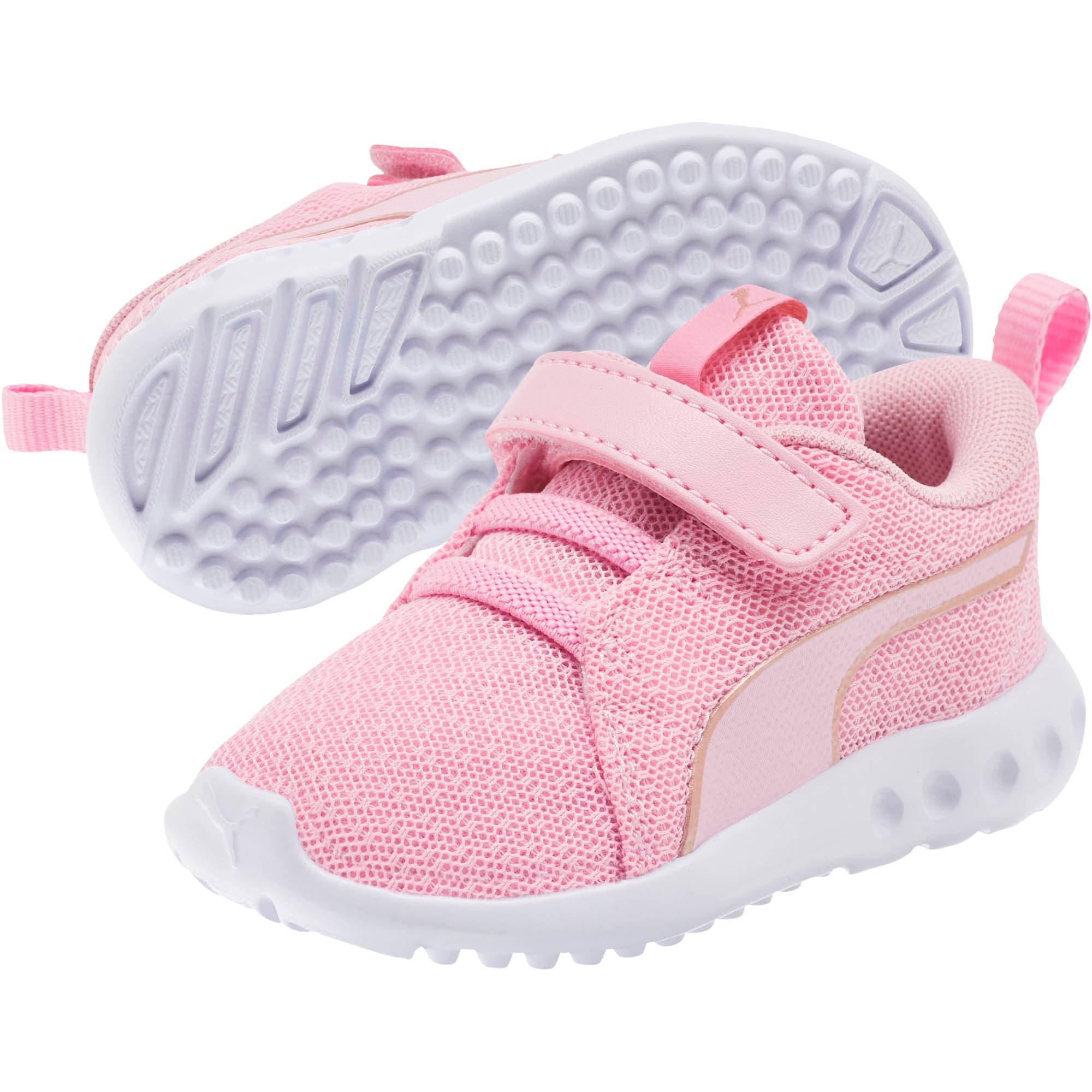 Thumbnail 2 of Carson 2 Metallic Mesh Toddler Shoes, Pale Pink-Rose Gold, medium