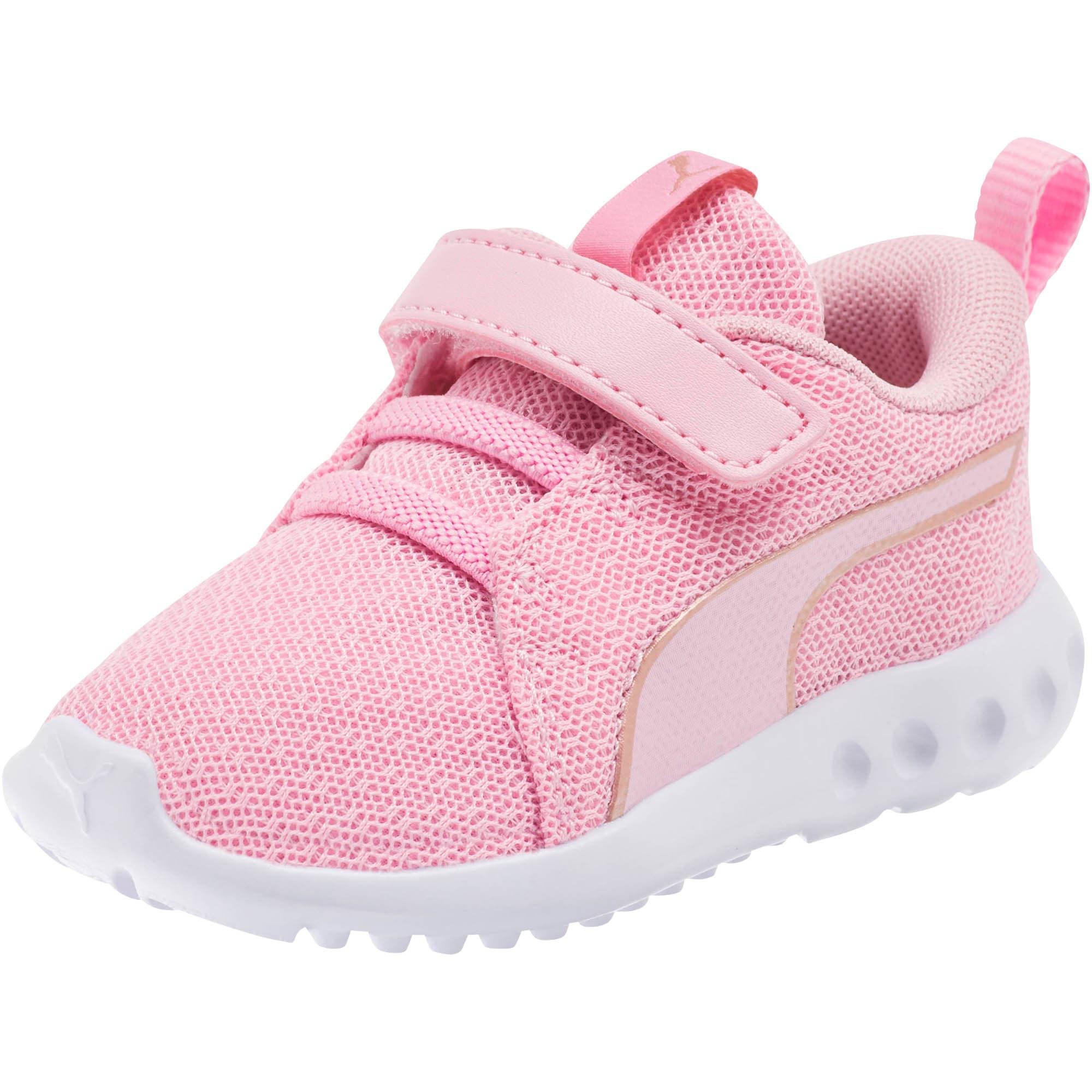 Thumbnail 1 of Carson 2 Metallic Mesh Toddler Shoes, Pale Pink-Rose Gold, medium
