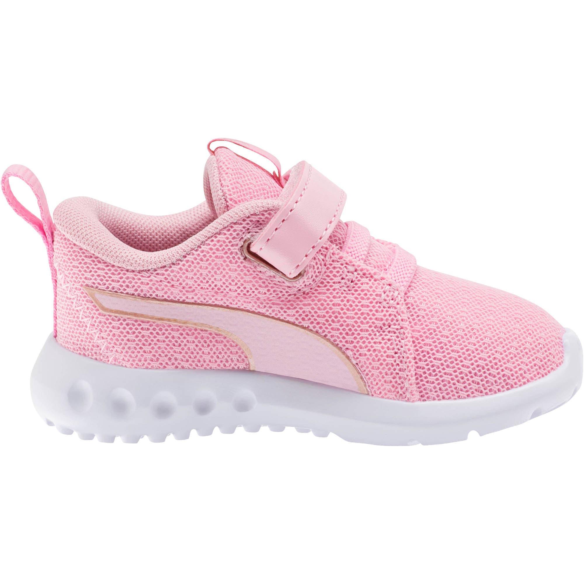 Thumbnail 4 of Carson 2 Metallic Mesh Toddler Shoes, Pale Pink-Rose Gold, medium