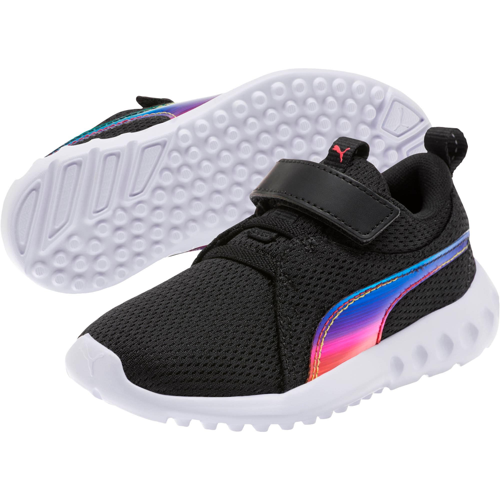 Thumbnail 2 of Carson 2 Iridescent Little Kids' Shoes, Puma Black-Puma White, medium