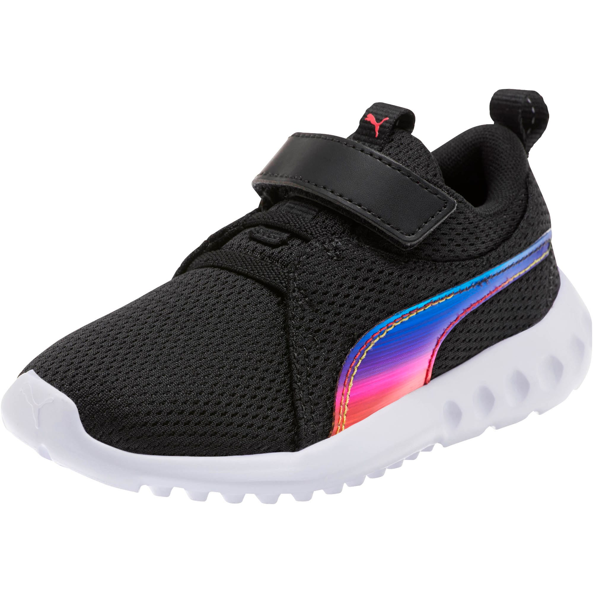 Thumbnail 1 of Carson 2 Iridescent Little Kids' Shoes, Puma Black-Puma White, medium