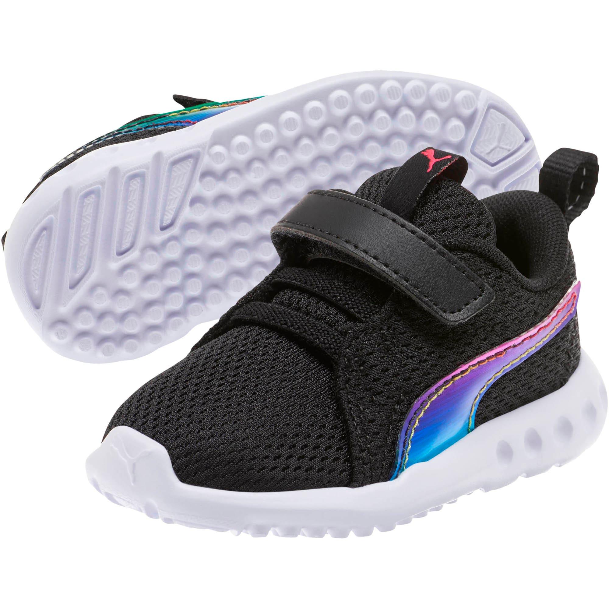 Thumbnail 2 of Carson 2 Iridescent Toddler Shoes, Puma Black-Puma White, medium