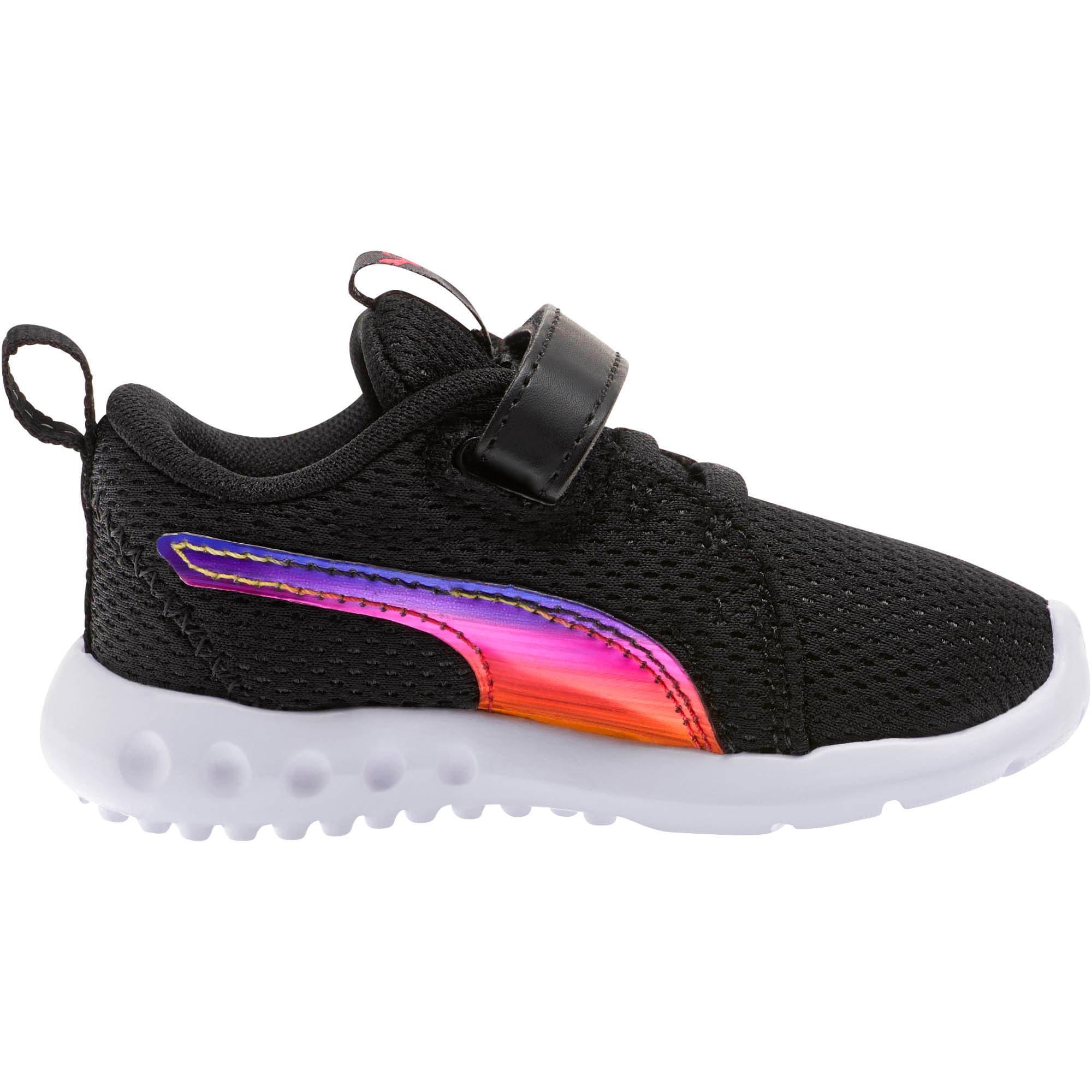 Thumbnail 4 of Carson 2 Iridescent Toddler Shoes, Puma Black-Puma White, medium