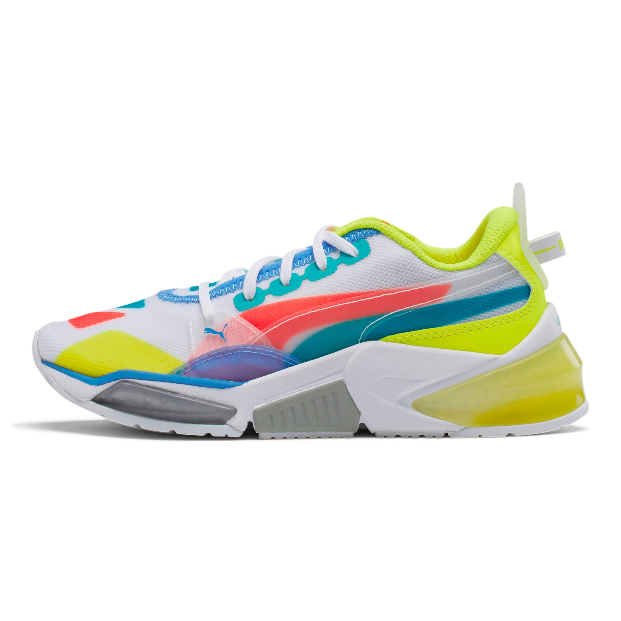 Thumbnail 1 of LQDCELL Optic Sheer Training Shoes JR, White-Nrgy Rose-Yellow, medium