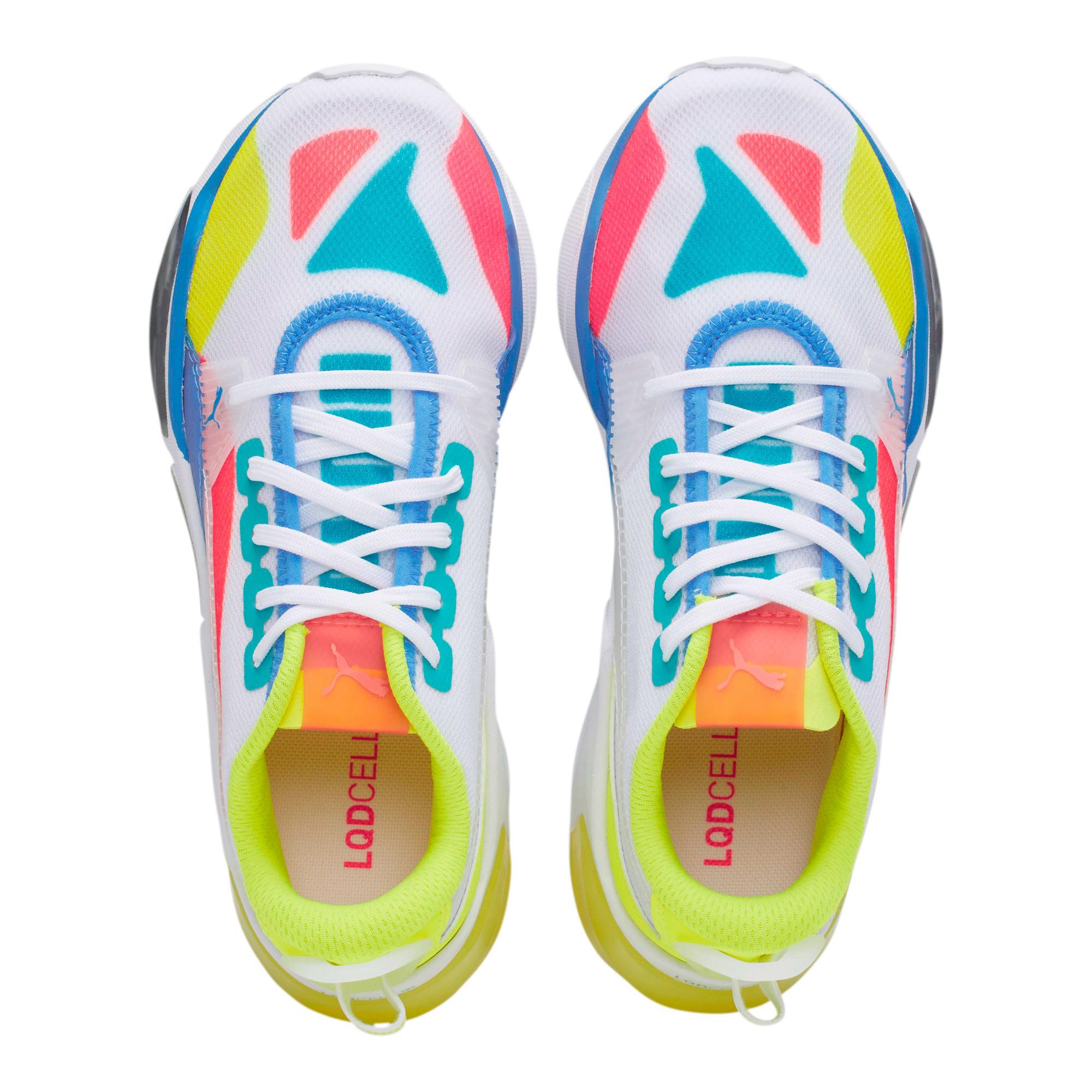 Thumbnail 6 of LQDCELL Optic Sheer Training Shoes JR, White-Nrgy Rose-Yellow, medium