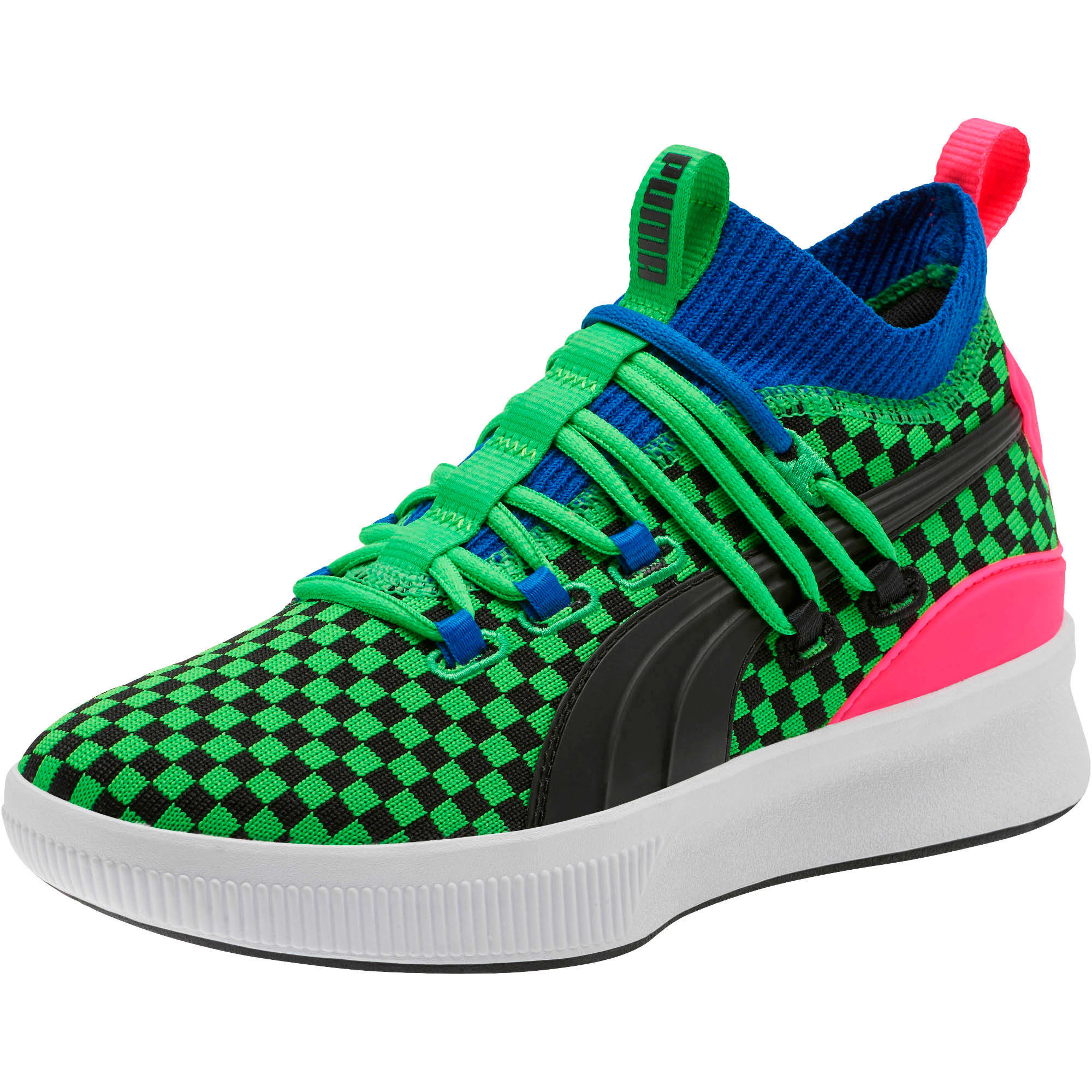 Thumbnail 1 of Clyde Court Summertime Basketball Shoes JR, 802 C Fluro Green PES, medium