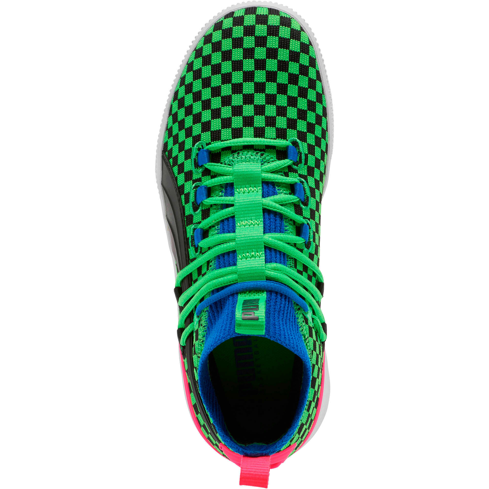 Thumbnail 5 of Clyde Court Summertime Basketball Shoes JR, 802 C Fluro Green PES, medium