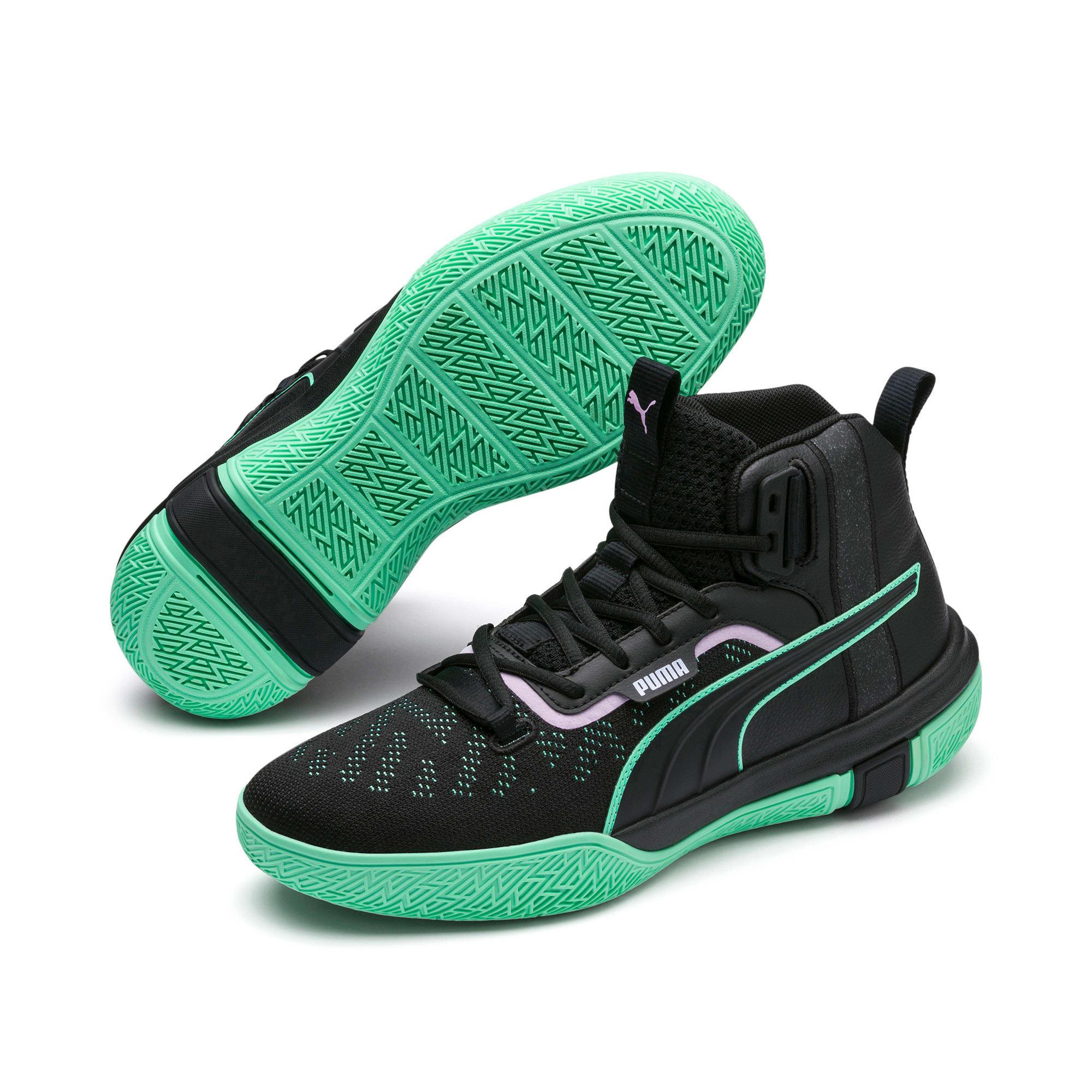 Anteprima 2 di Legacy Dark Mode Basketball Shoes, Puma Black-Orchid Bloom, medio