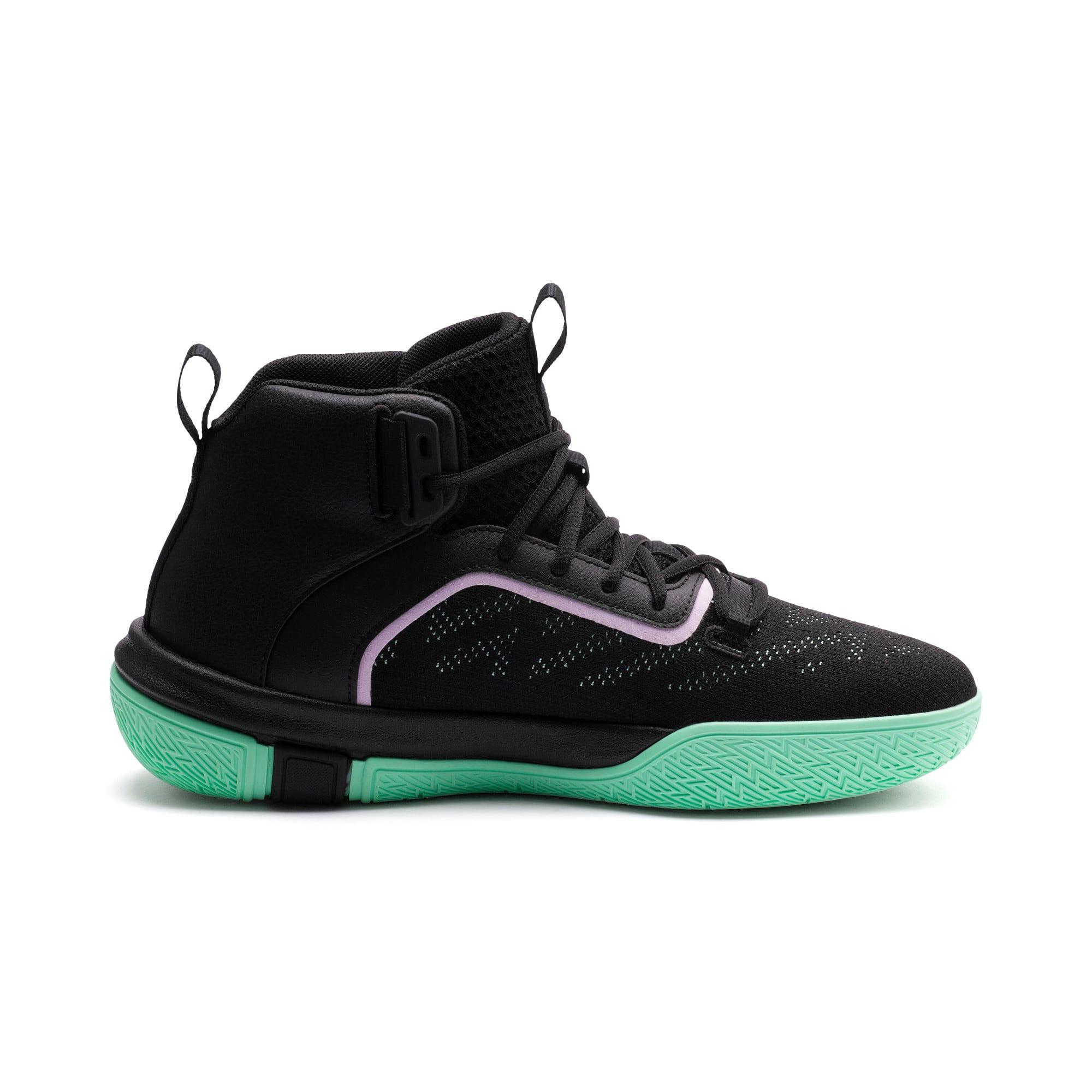 Anteprima 5 di Legacy Dark Mode Basketball Shoes, Puma Black-Orchid Bloom, medio