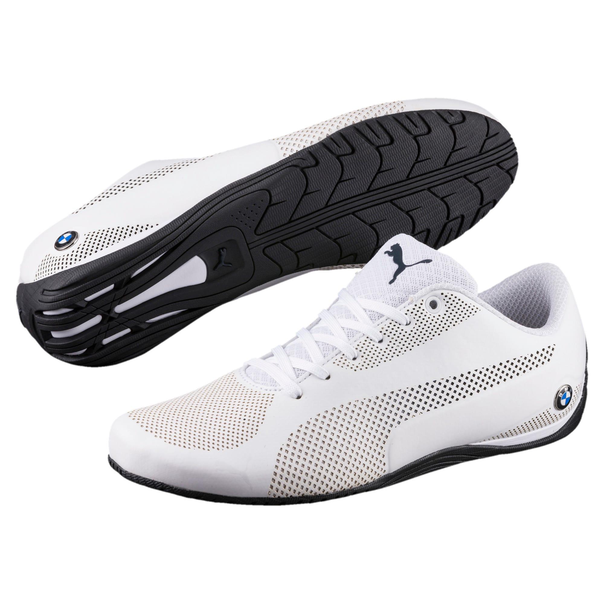 Thumbnail 2 of BMW Motorsport Drift Cat 5 Ultra Shoes, Puma Wht-Team Blu-Hgh Rsk Rd, medium