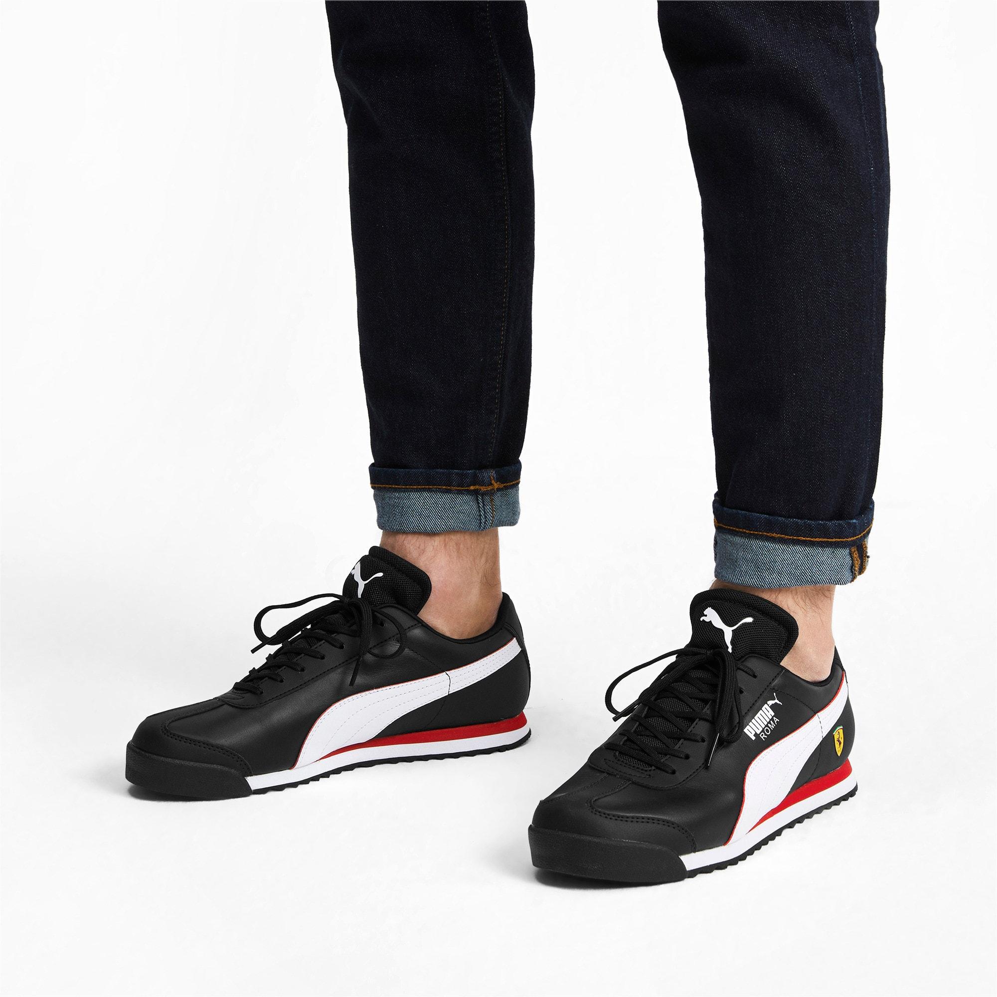 Thumbnail 2 of Scuderia Ferrari Roma Men's Sneakers, Black-White-Rosso Corsa, medium