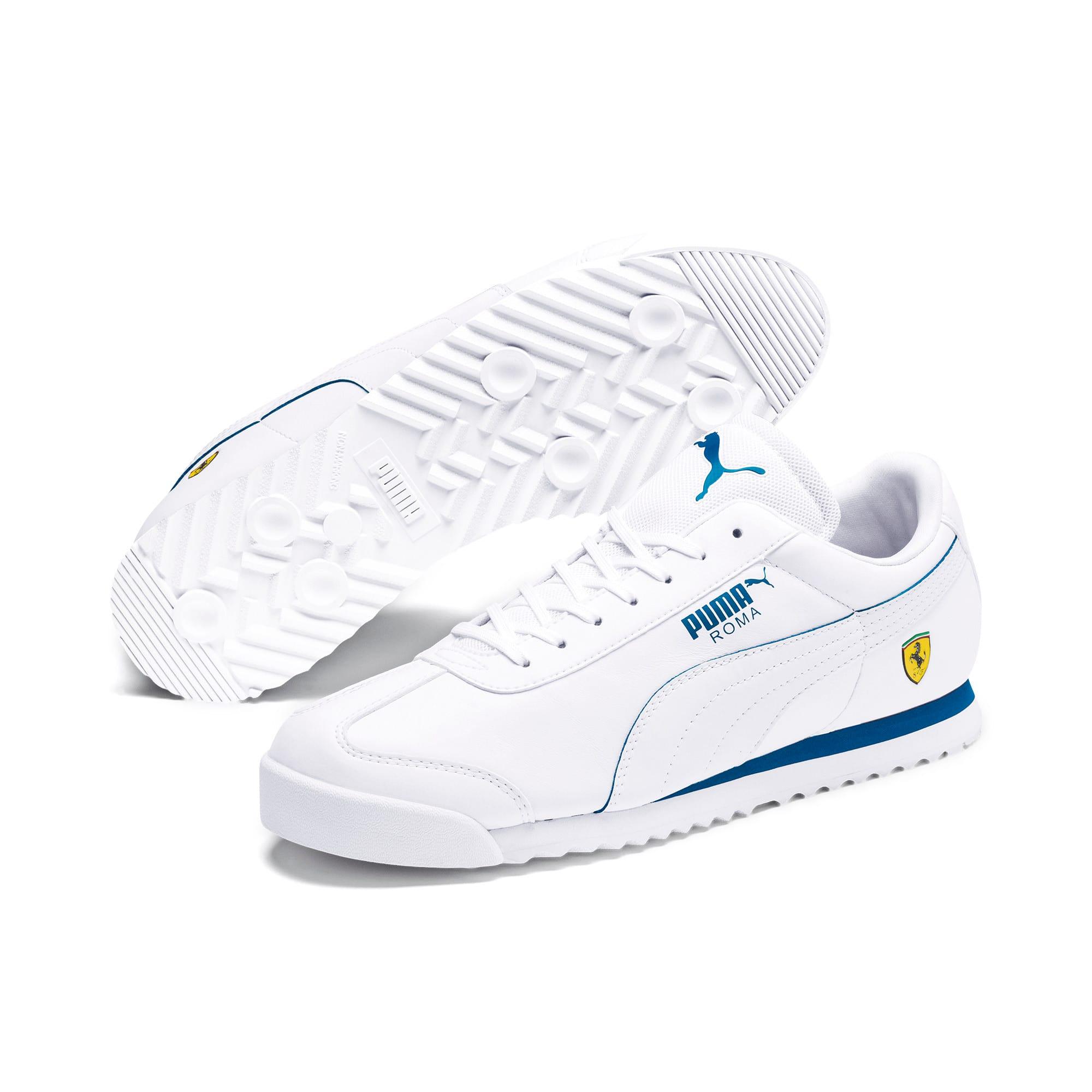 Thumbnail 2 of Scuderia Ferrari Roma Men's Sneakers, White-White-Galaxy Blue, medium