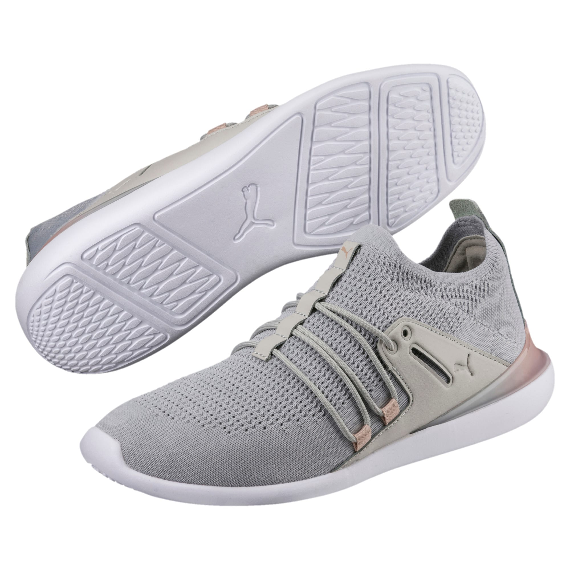 Thumbnail 2 of Evo Cat Sock Lace Monaco Women's Sneakers, GrayViolet-MahoganyRose-Wht, medium