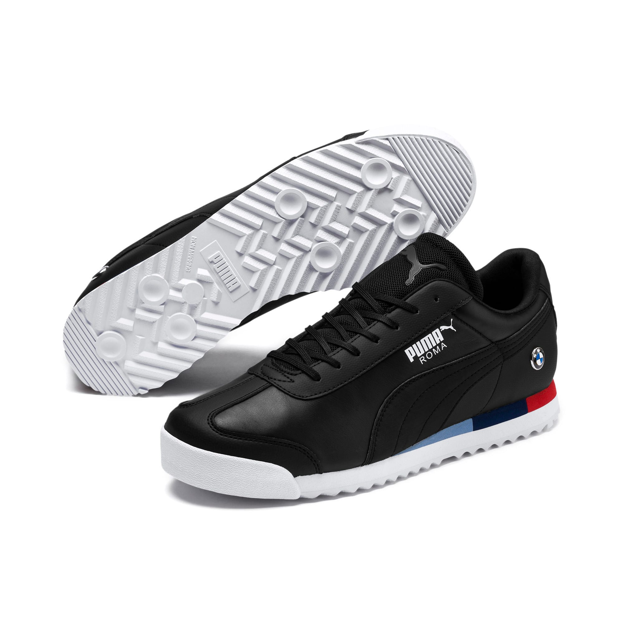 Thumbnail 2 of BMW MMS Roma Men's Trainers, Puma Black-Puma Black, medium