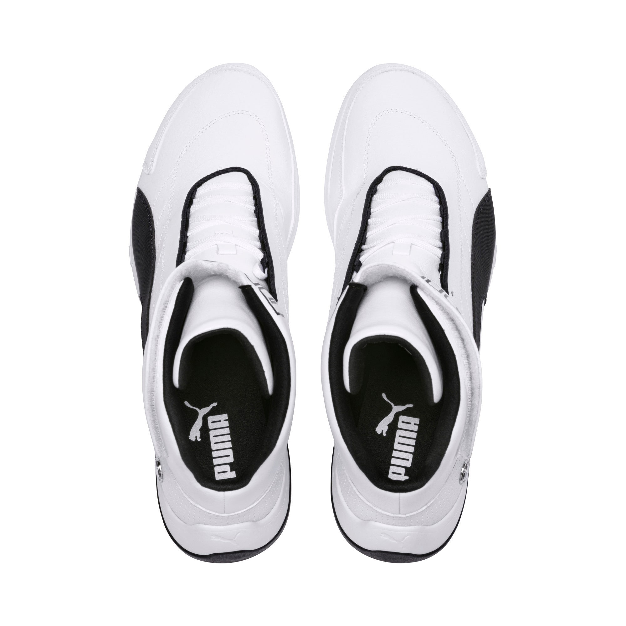 BMW M Motorsport Kart Cat III Mid Men's Shoes, Puma White-Anthracite, large