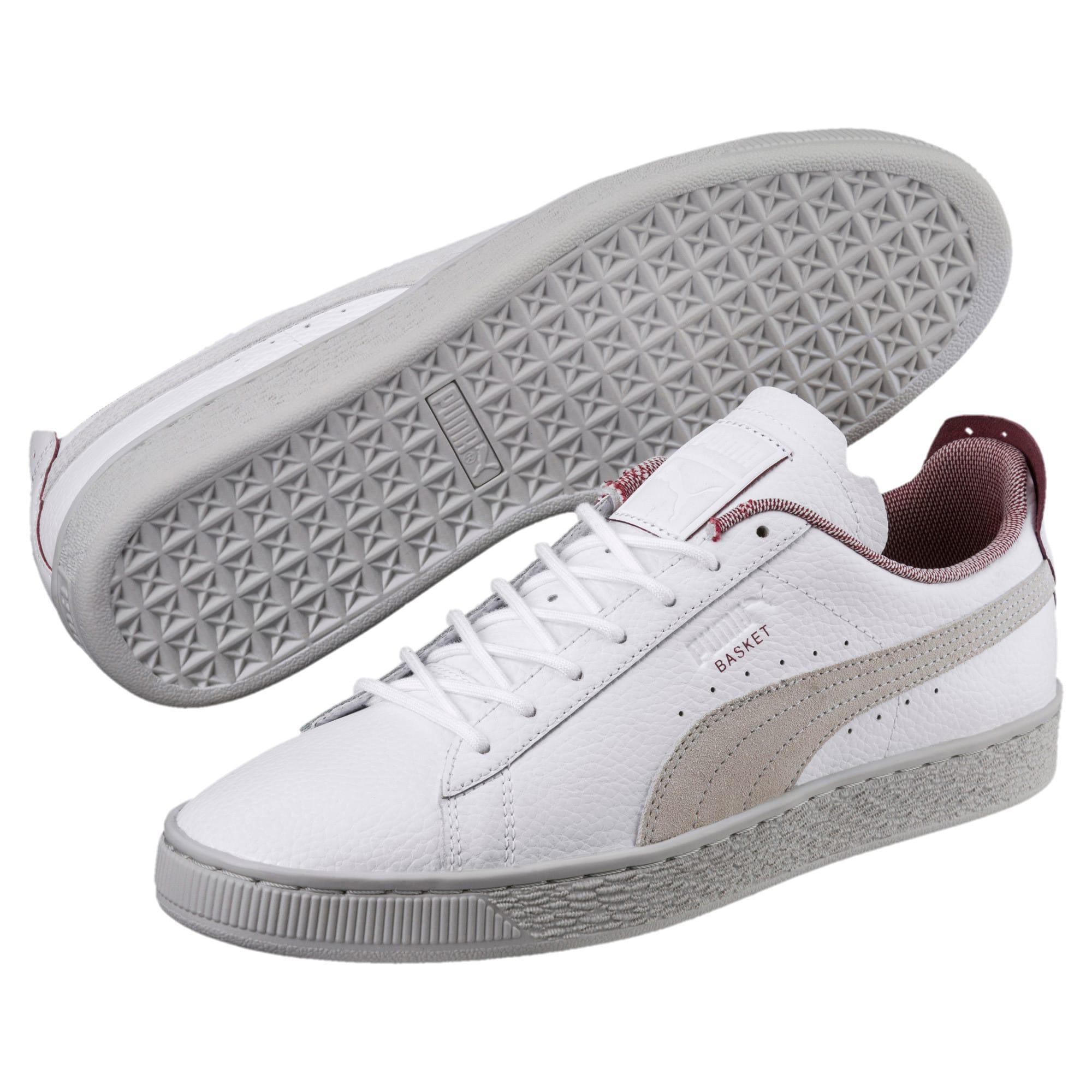 Thumbnail 2 of Scuderia Ferrari Basket Sneakers, Puma White-Glacier Gray, medium
