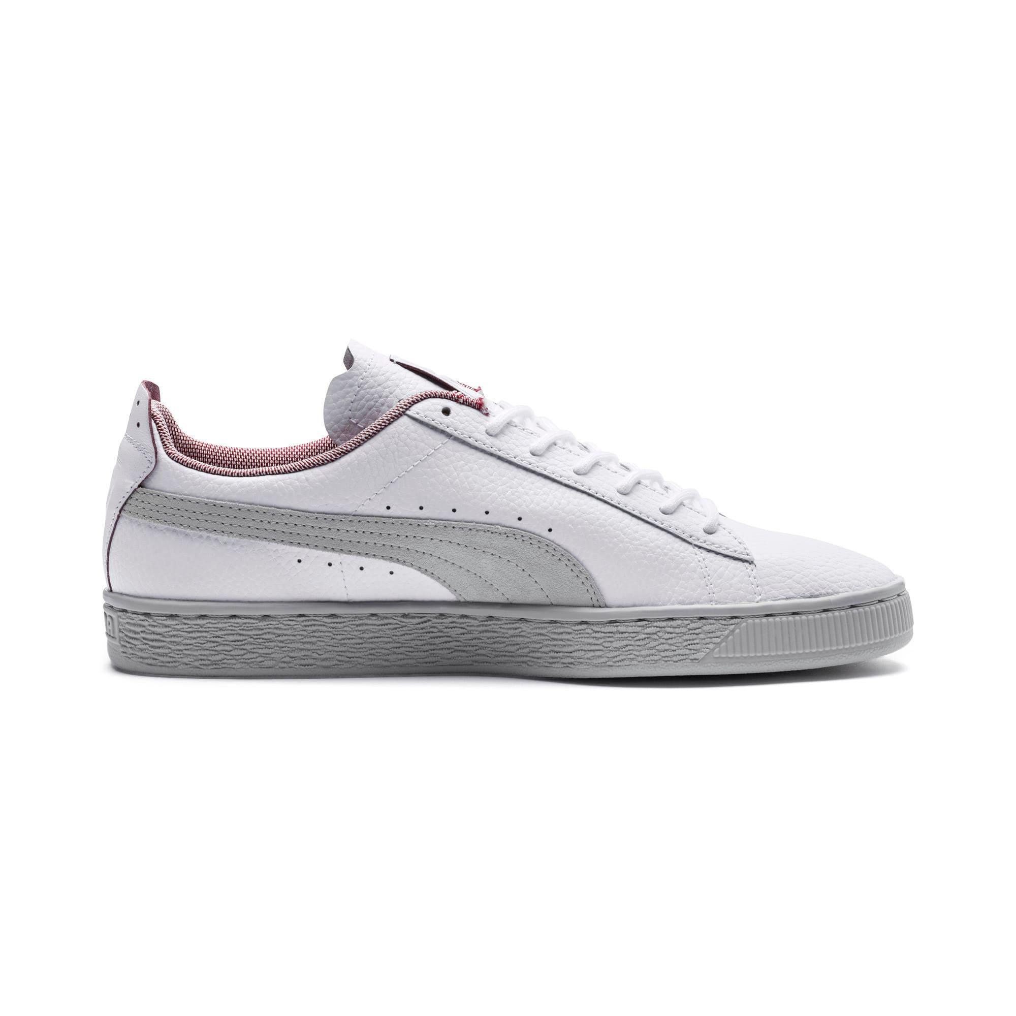 Thumbnail 5 of Scuderia Ferrari Basket Sneakers, Puma White-Glacier Gray, medium