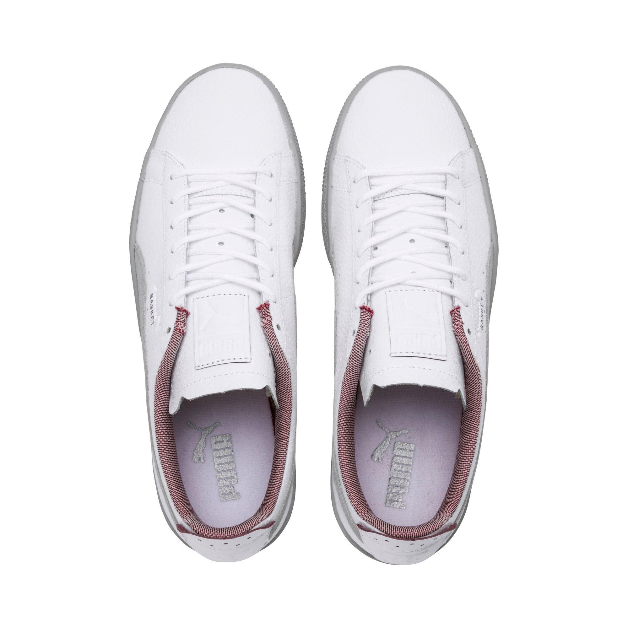 Thumbnail 6 of Scuderia Ferrari Basket Sneakers, Puma White-Glacier Gray, medium