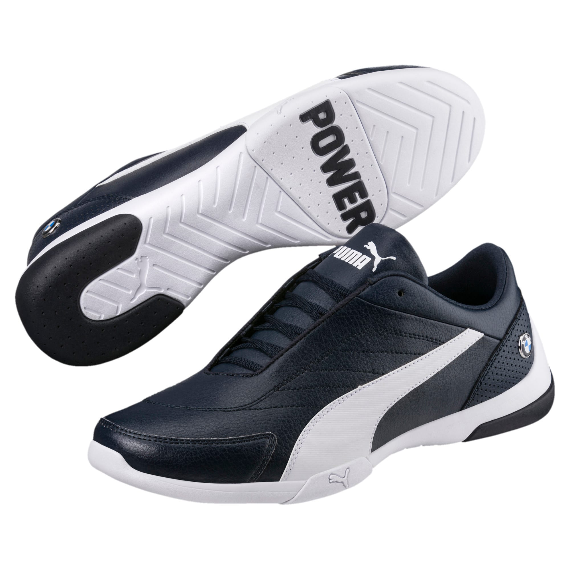 Thumbnail 2 of BMW M Motorsport Kart Cat III Shoes, Team Blue-Puma White, medium