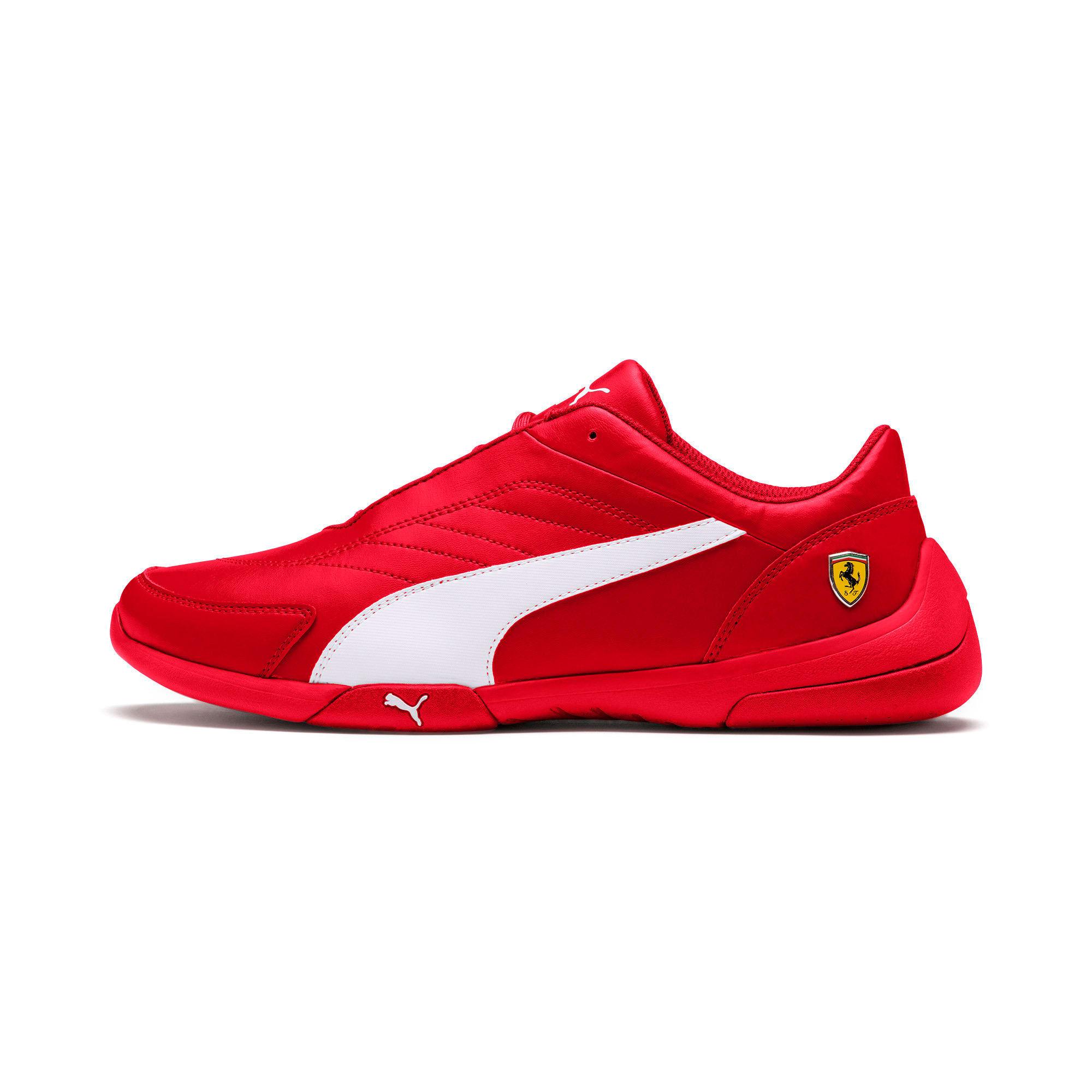 Thumbnail 1 of Scuderia Ferrari Kart Cat III Shoes, Rosso Corsa-White, medium