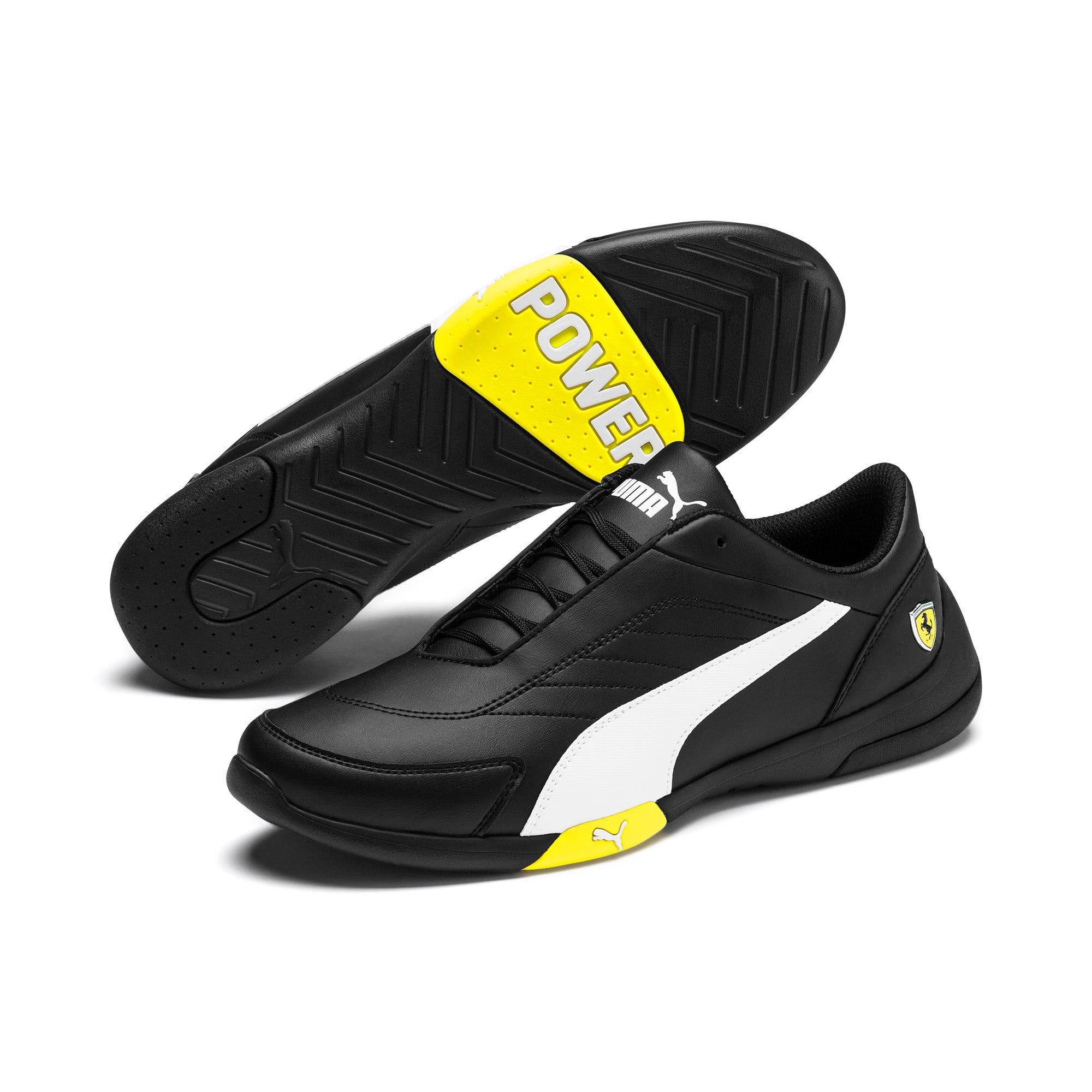 Thumbnail 3 of Ferrari Kart Cat III Sneaker, Black-White-Blazing Yellow, medium