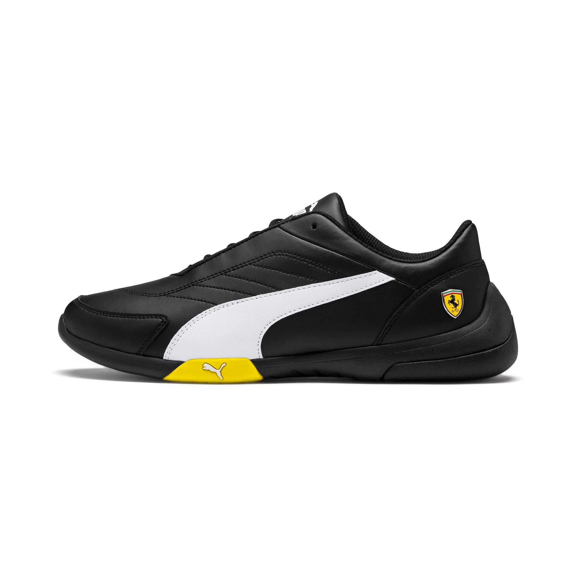 Thumbnail 1 of Scuderia Ferrari Kart Cat III Shoes, Black-White-Blazing Yellow, medium