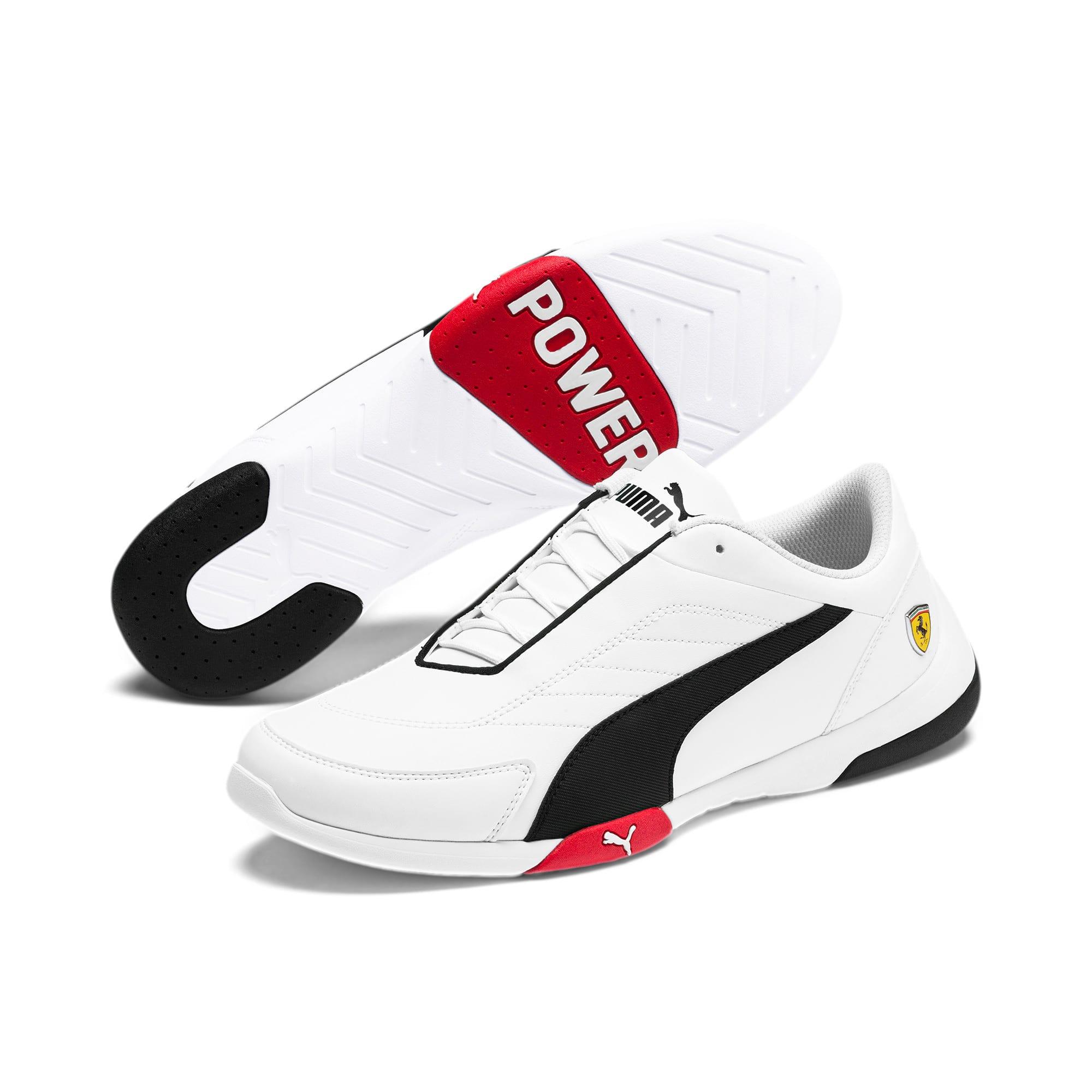 Thumbnail 4 of Scuderia Ferrari Kart Cat III Shoes, White-Black-Rosso Corsa, medium
