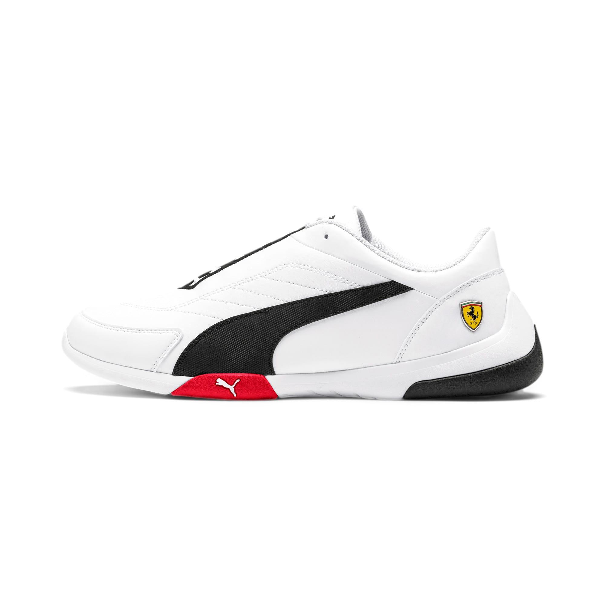 Thumbnail 1 of Scuderia Ferrari Kart Cat III Shoes, White-Black-Rosso Corsa, medium