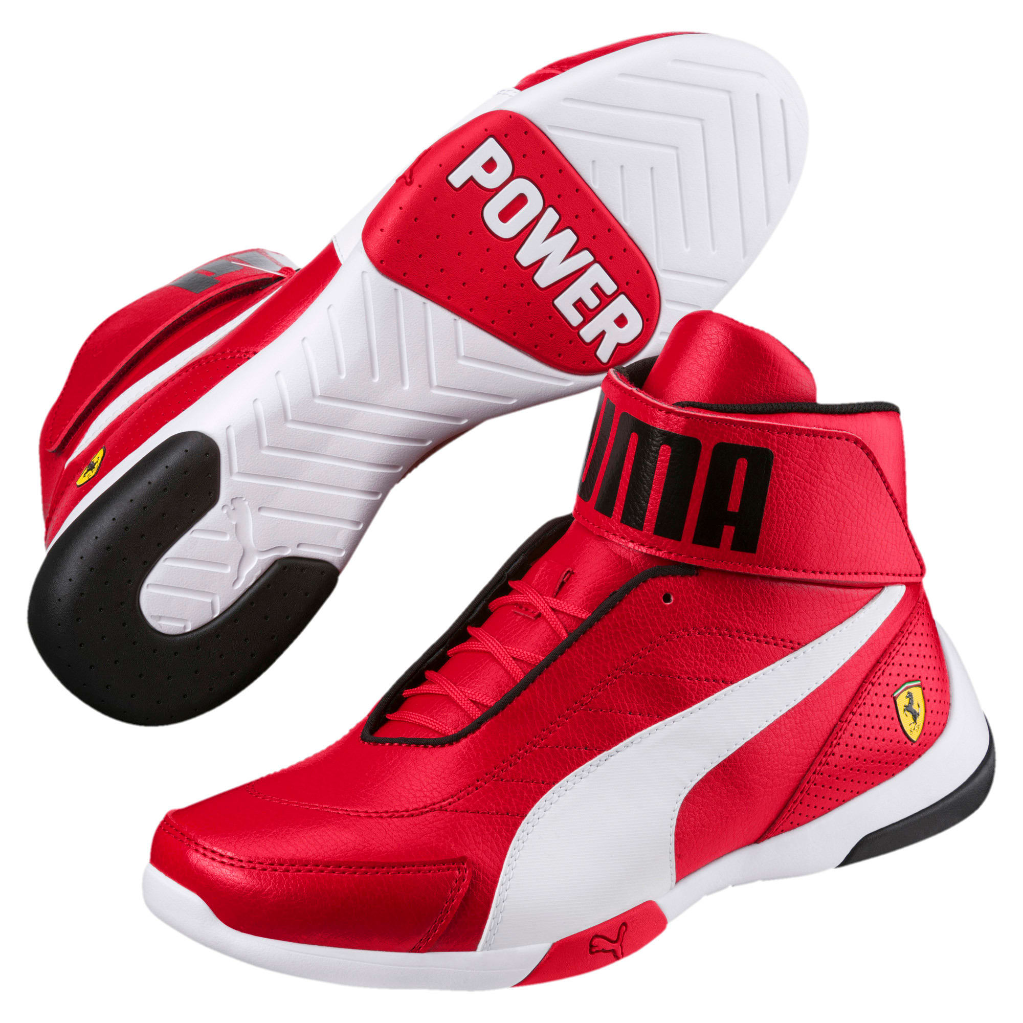 Thumbnail 2 of Scuderia Ferrari Kart Cat Mid III Hi Top Shoes, Rosso Corsa-Puma White, medium
