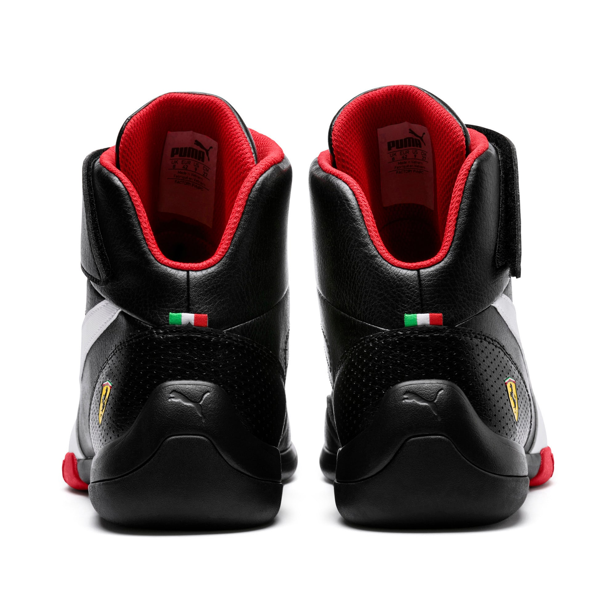 Thumbnail 4 of Scuderia Ferrari Kart Cat Mid III Hi Top Shoes, Puma Black-Puma White, medium