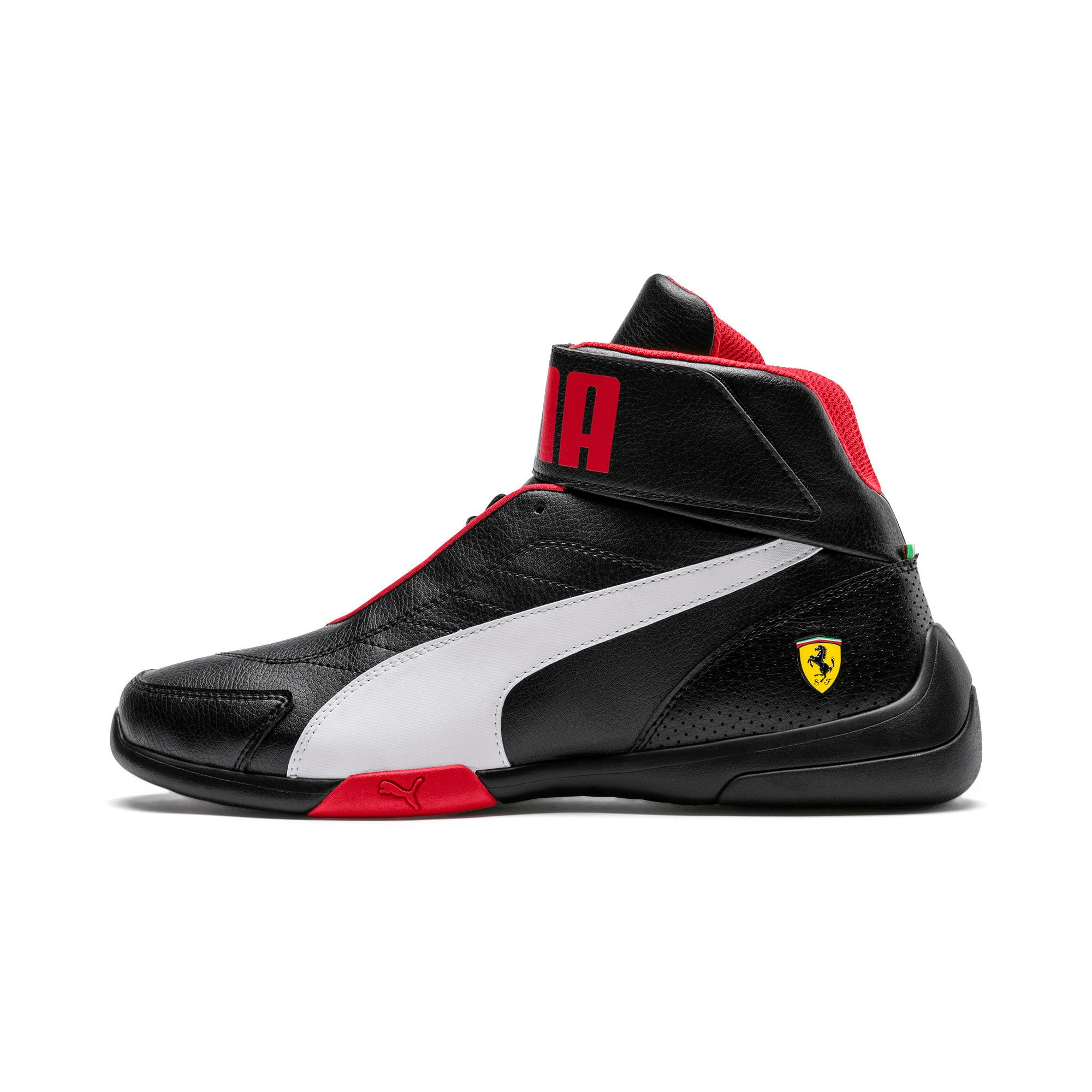 Thumbnail 1 of Scuderia Ferrari Kart Cat Mid III Hi Top Shoes, Puma Black-Puma White, medium