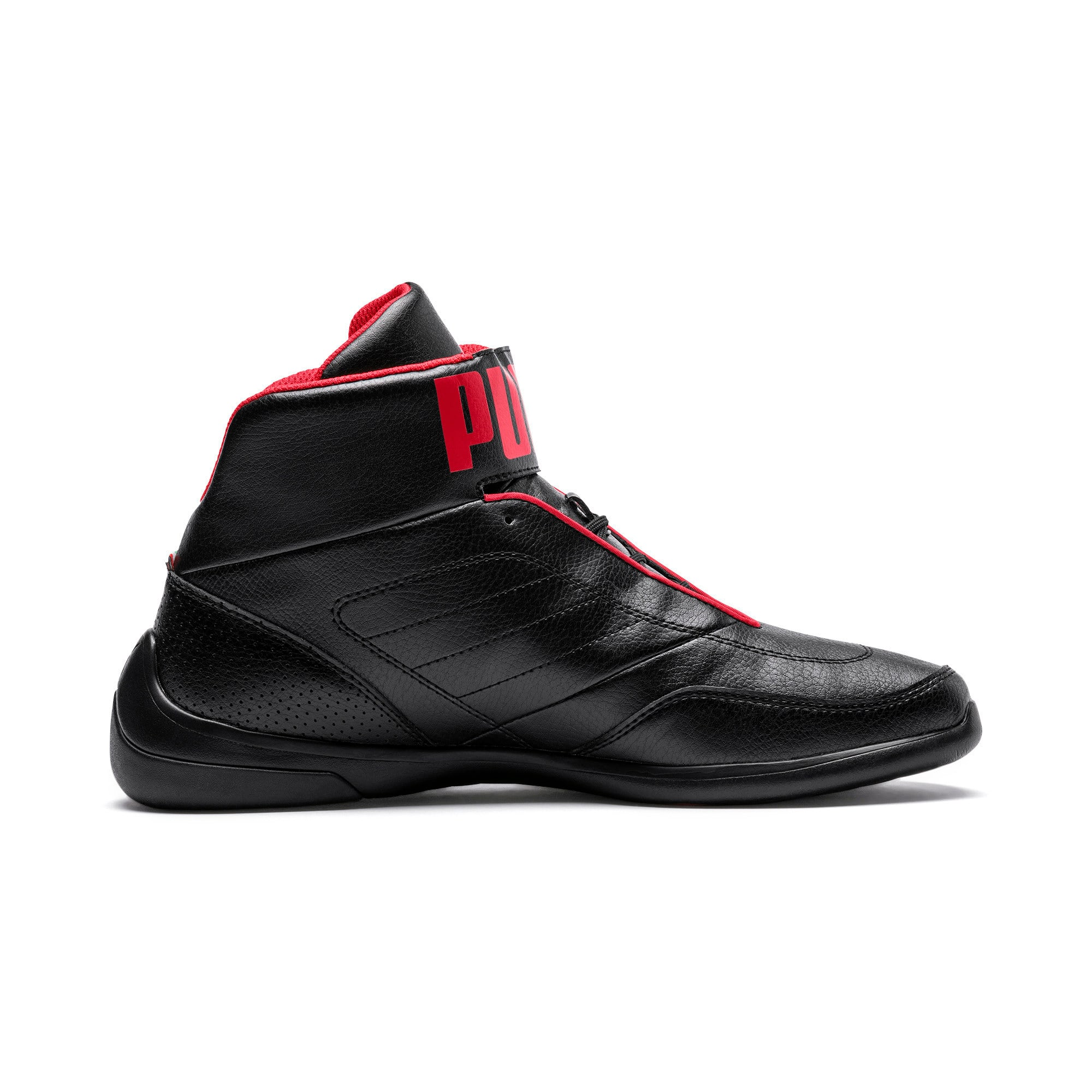 Thumbnail 5 of Scuderia Ferrari Kart Cat Mid III Hi Top Shoes, Puma Black-Puma White, medium