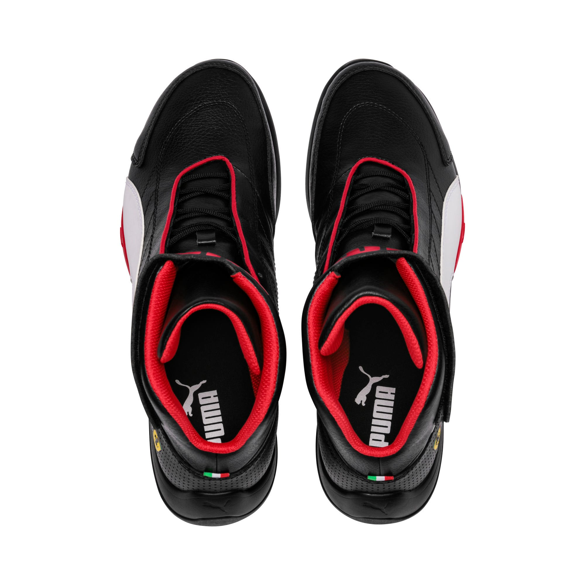 Thumbnail 6 of Scuderia Ferrari Kart Cat Mid III Hi Top Shoes, Puma Black-Puma White, medium
