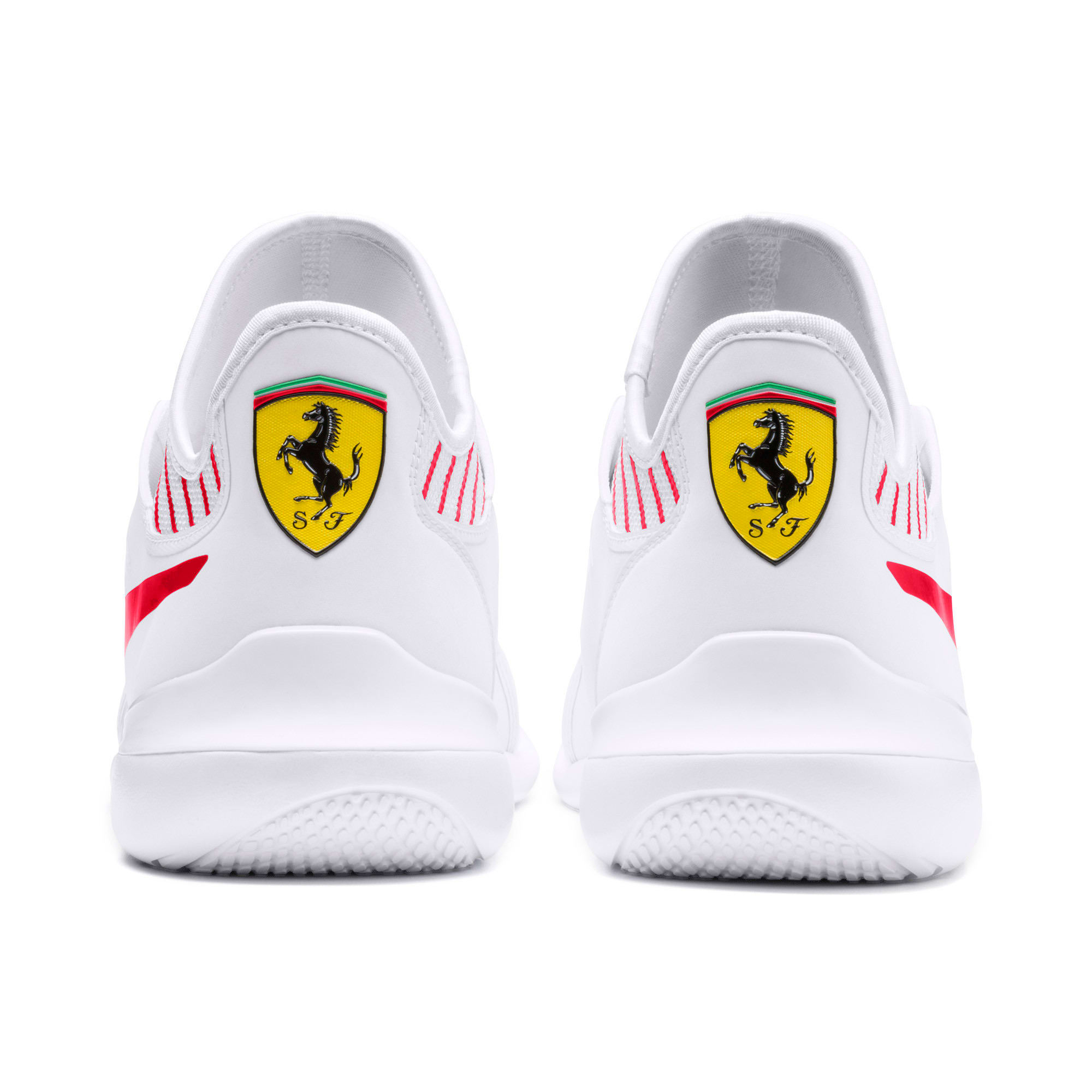 Thumbnail 4 of Scuderia Ferrari Evo Cat Mace Sneakers, Puma White-Rosso Corsa, medium