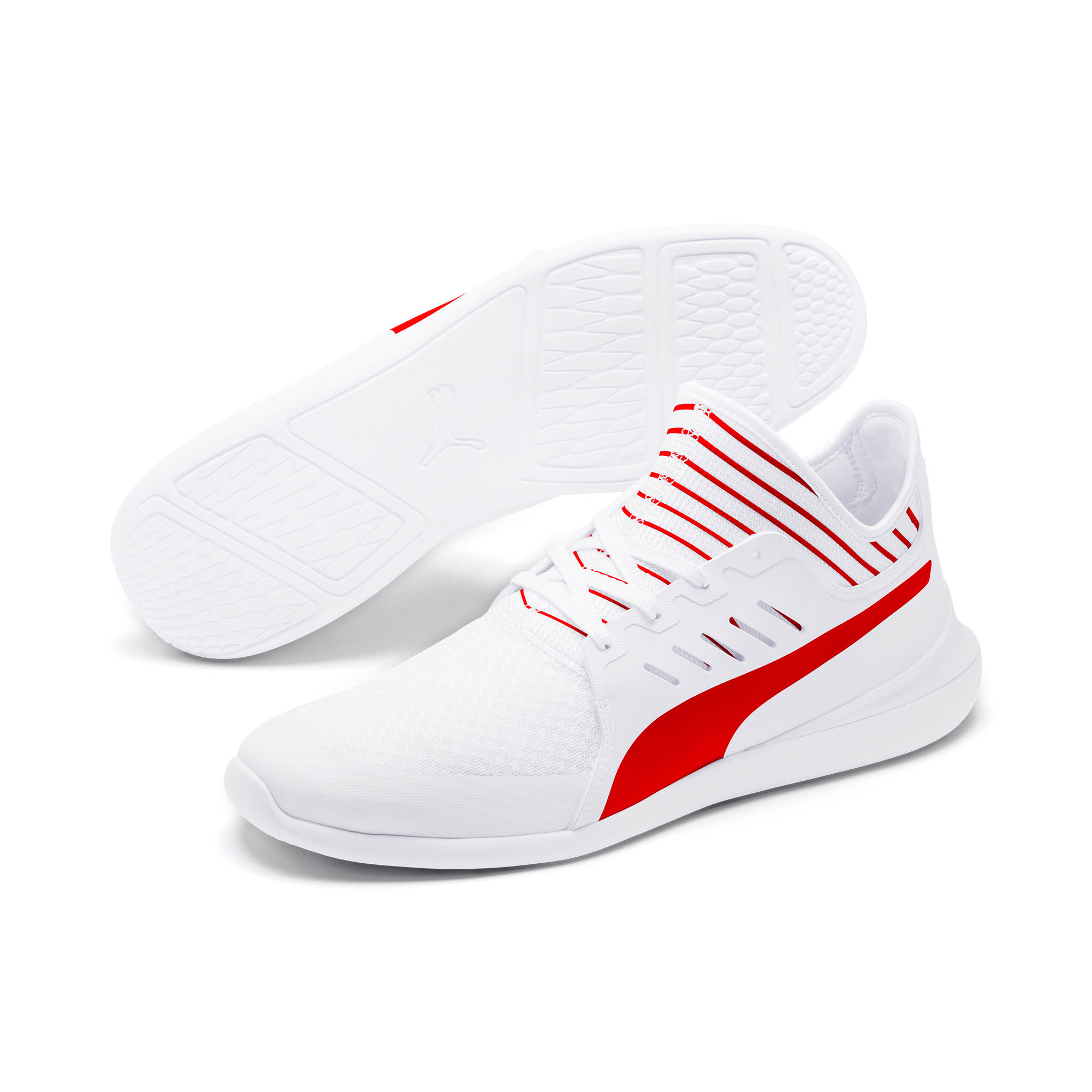 Thumbnail 3 of Scuderia Ferrari Evo Cat Mace Sneakers, Puma White-Rosso Corsa, medium