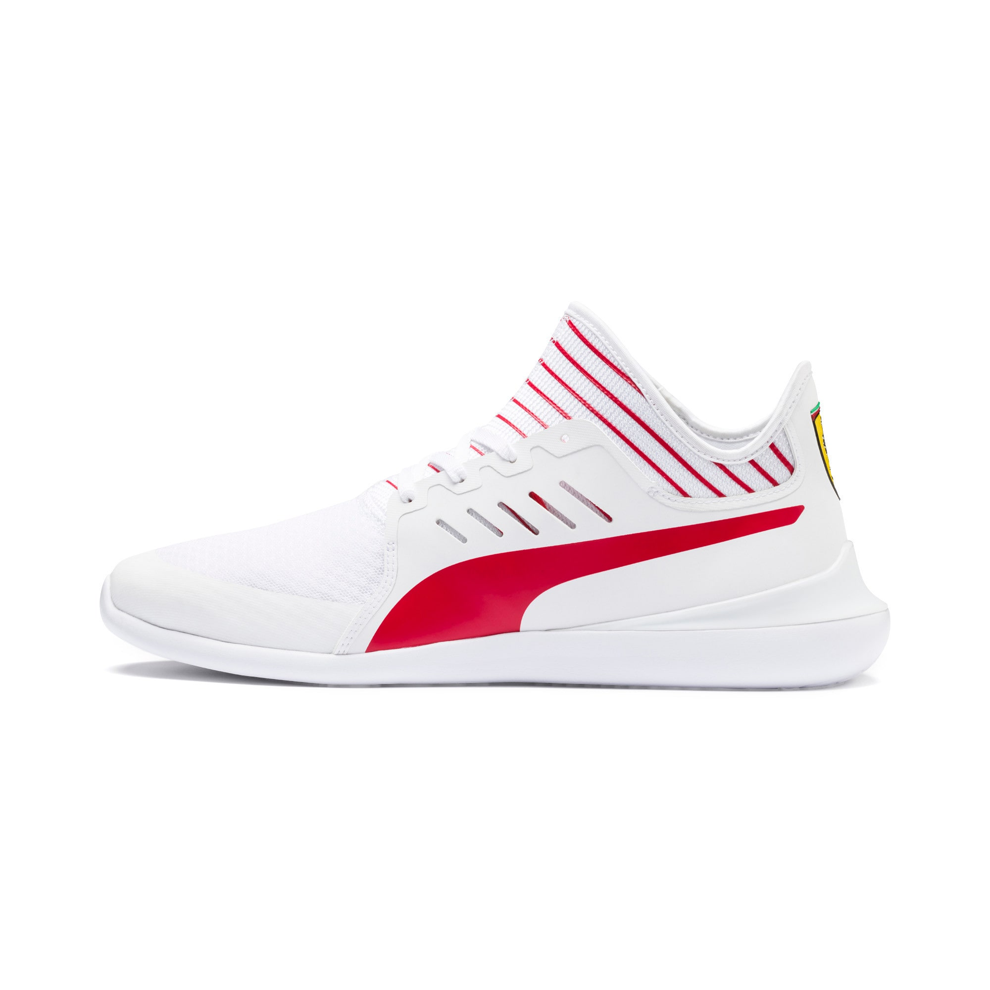 Thumbnail 1 of Scuderia Ferrari Evo Cat Mace Sneakers, Puma White-Rosso Corsa, medium
