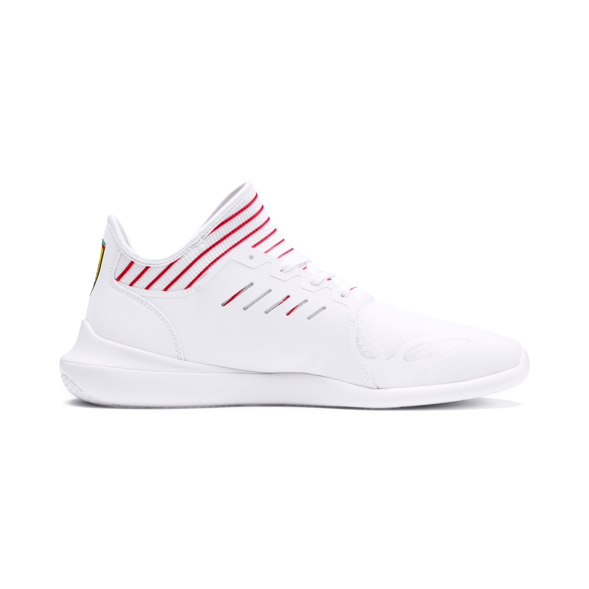 Thumbnail 6 of Scuderia Ferrari Evo Cat Mace Sneakers, Puma White-Rosso Corsa, medium