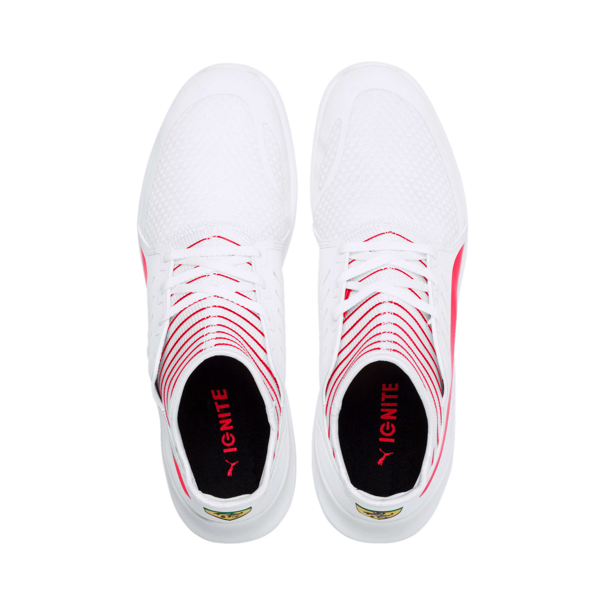 Thumbnail 7 of Scuderia Ferrari Evo Cat Mace Sneakers, Puma White-Rosso Corsa, medium