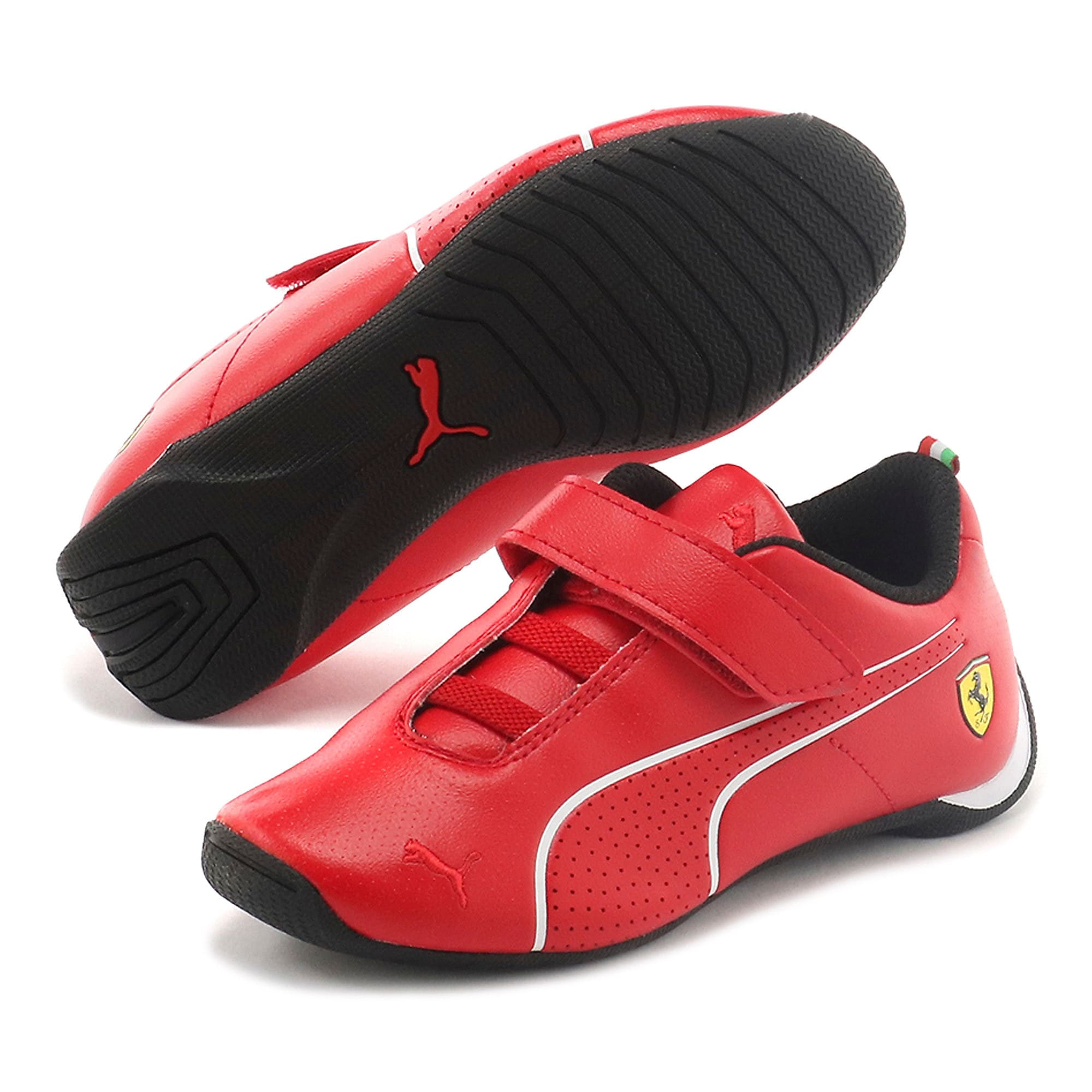 Thumbnail 2 of Scuderia Ferrari Future Cat Ultra Little Kids' Shoes, Rosso Corsa-Puma White, medium