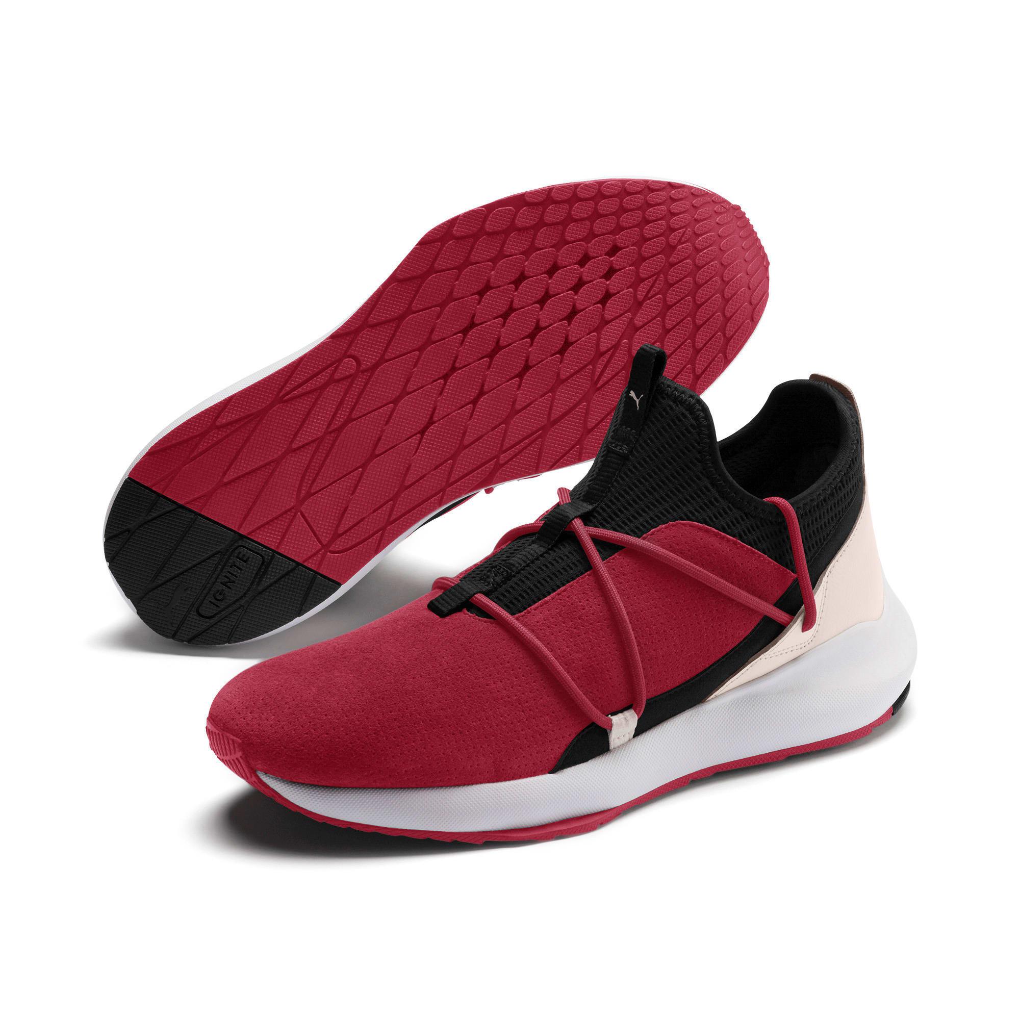 Miniatura 3 de Zapatos de entrenamiento de gamuzaScuderiaFerrariEvo Cat II, Rhubarb-Blk-PastelParchment, mediano