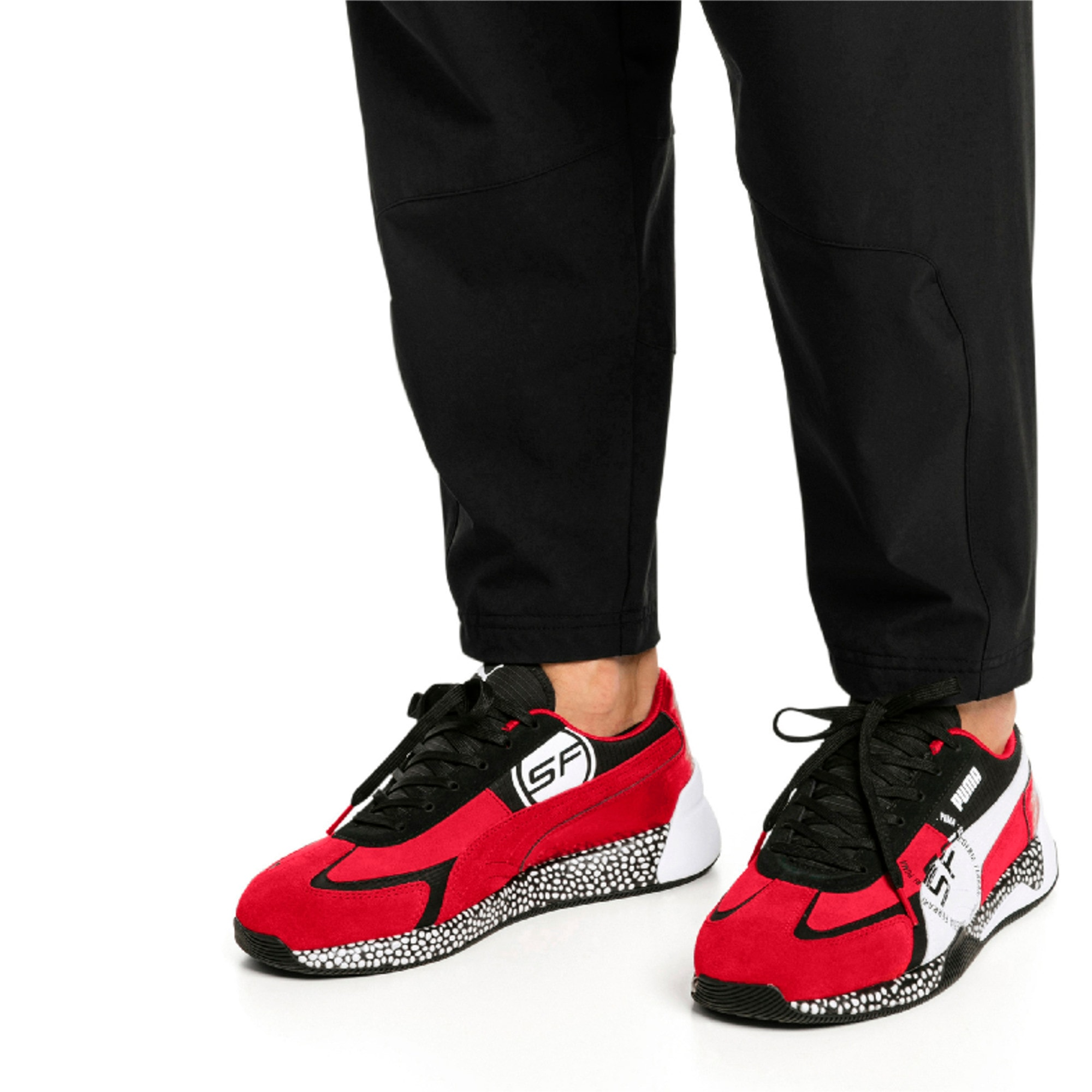 Thumbnail 2 van Ferrari Speed HYBRID sneakers voor mannen, Rosso Corsa-White-Black, medium