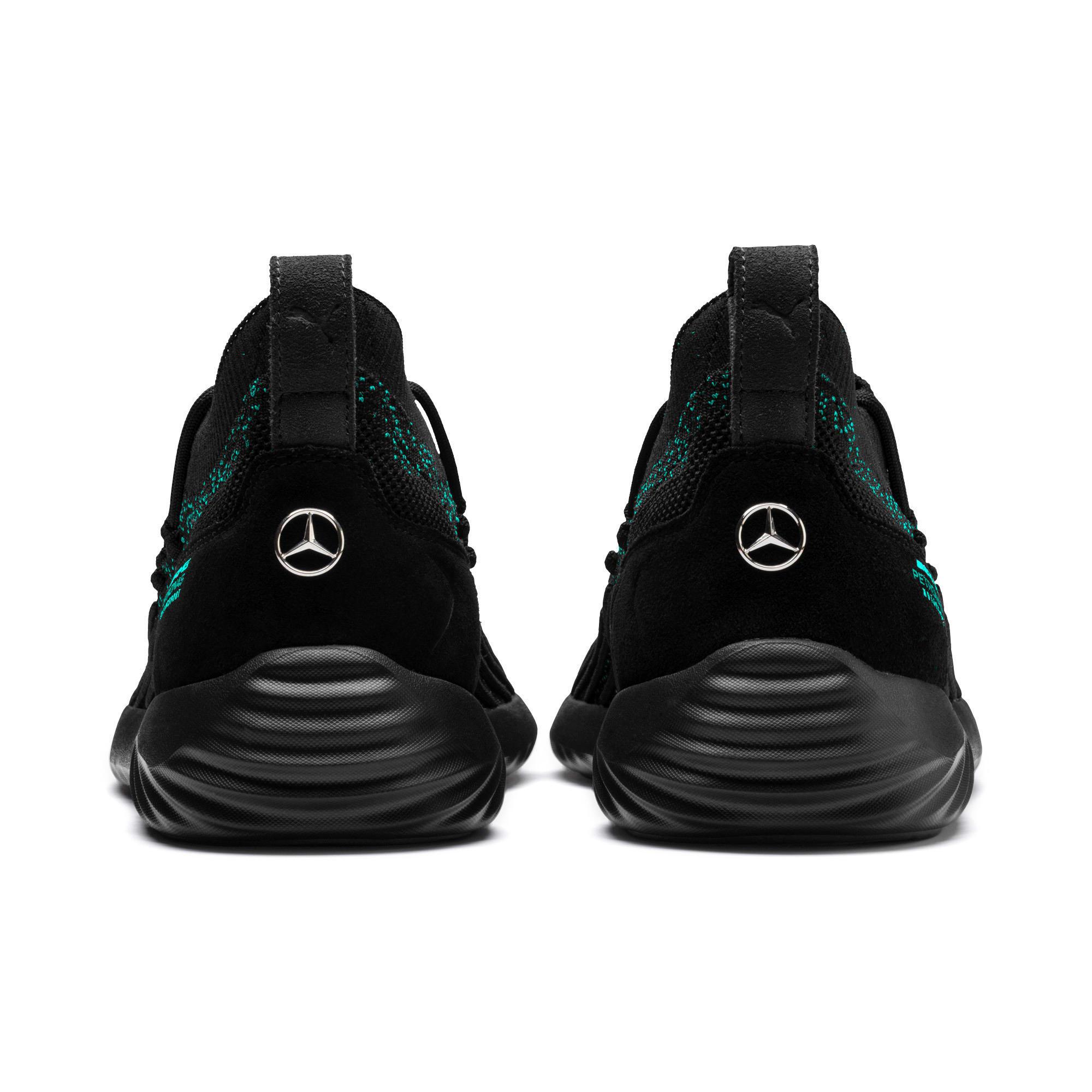 Thumbnail 3 of Mercedes AMG Petronas SpeedCat FUSEFIT Trainers, Puma Black-Spectra Green-Blk, medium-IND