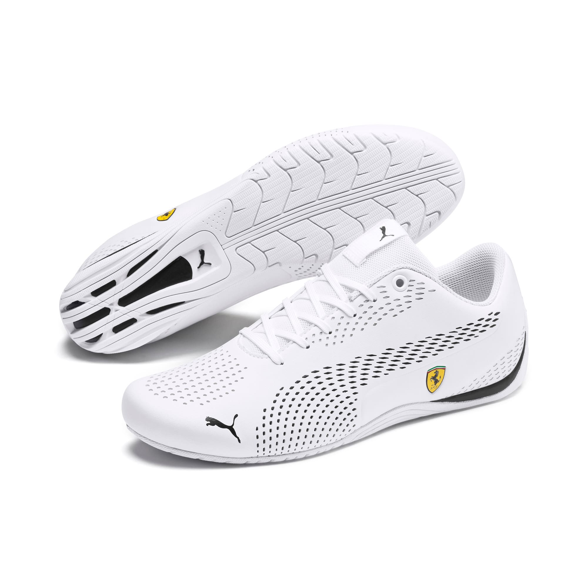 Thumbnail 3 of Scuderia Ferrari Drift Cat 5 Ultra II Men's Shoes, Puma White-Puma Black, medium