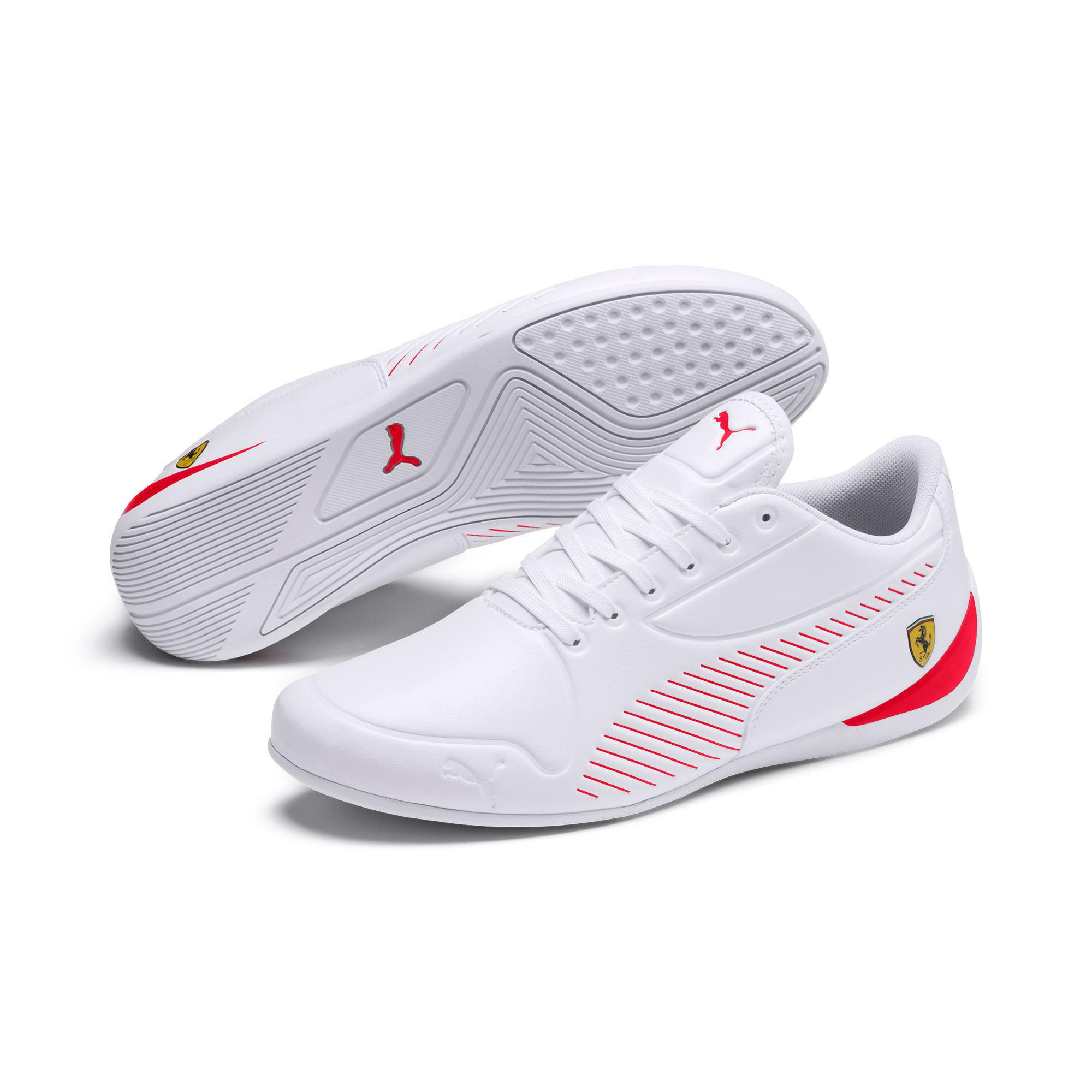 Thumbnail 2 of Scuderia Ferrari Drift Cat 7S Ultra Men's Shoes, Puma White-Rosso Corsa, medium