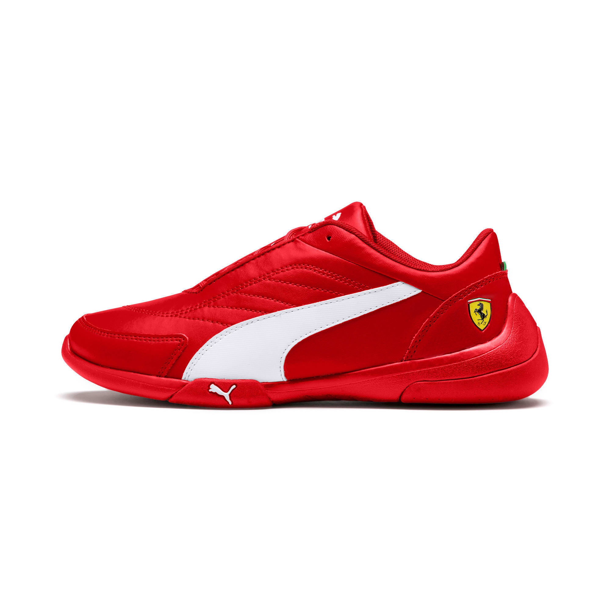 Ferrari Kart Cat III Youth Sneaker, Rosso Corsa-Wht-Rosso Corsa, large